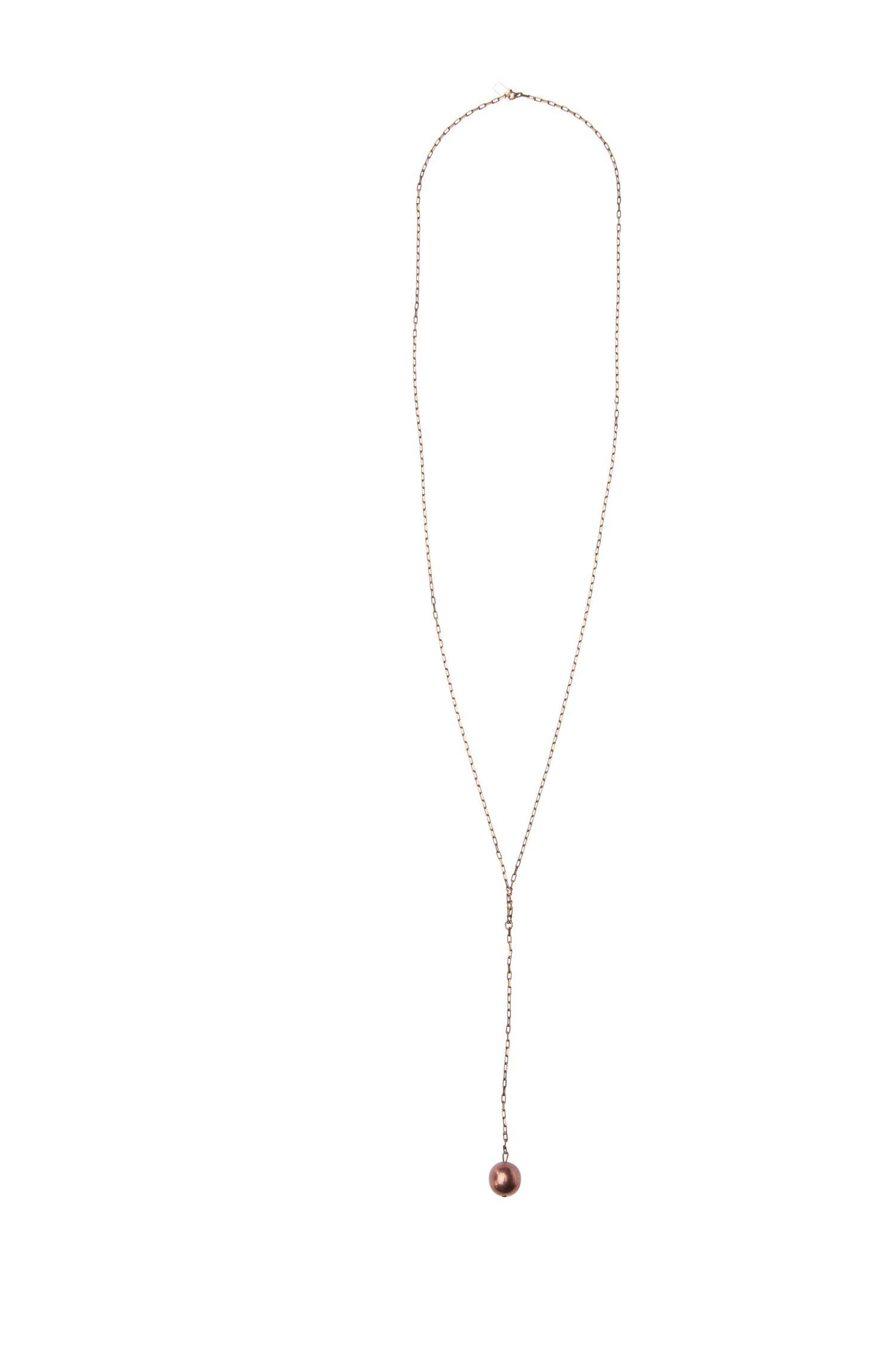 Filigrane Halskette mit Schmuckperle: ´Melana`