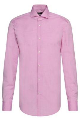 Bügelleichtes Slim-Fit Hemd aus Baumwolle: 'Jason', Hellrosa