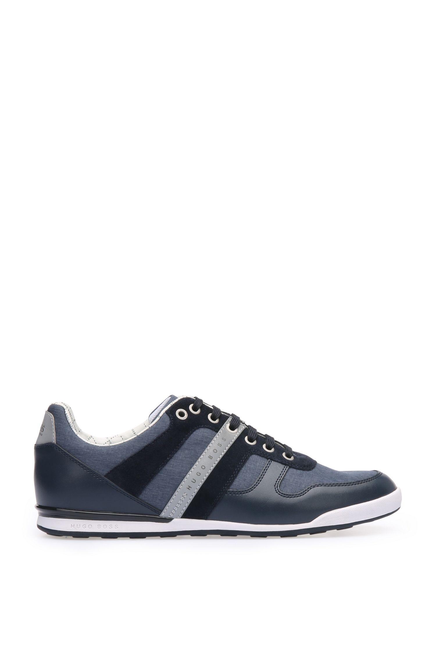 Sneakers aus Material-Mix mit Gewebe und Leder: ´Arkansas_Lowp_nych`