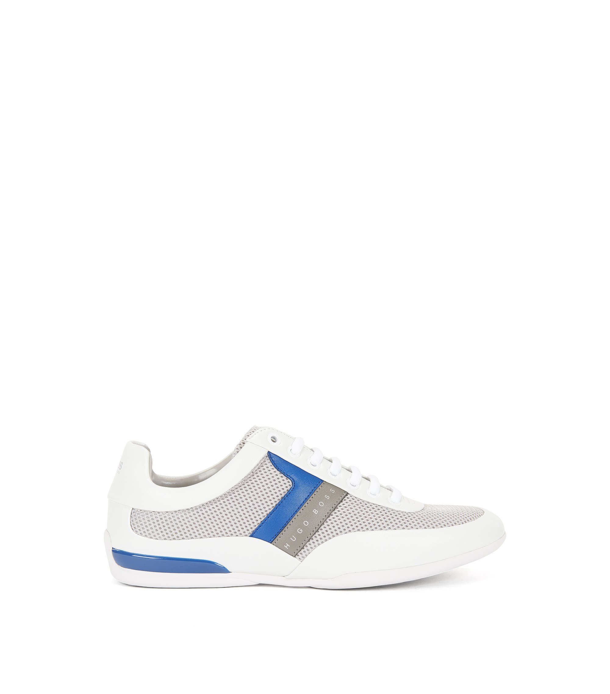 Low-profile trainers with technical-mesh uppers, Open White