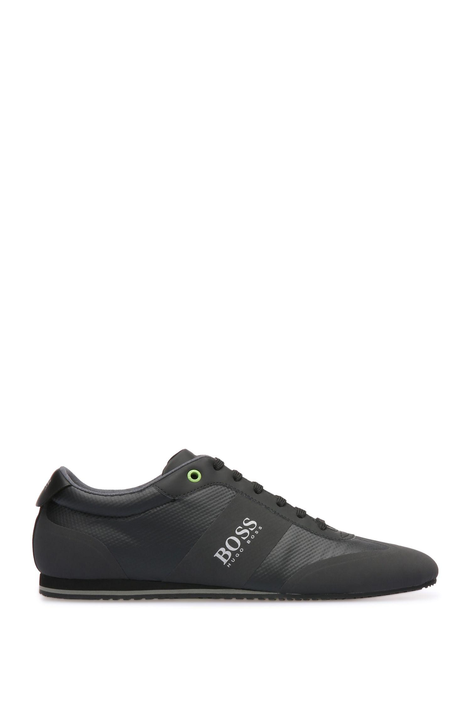 Sneakers van een materiaalmix met gecoat mesh en leer: 'Lighter_Lowp_syc'