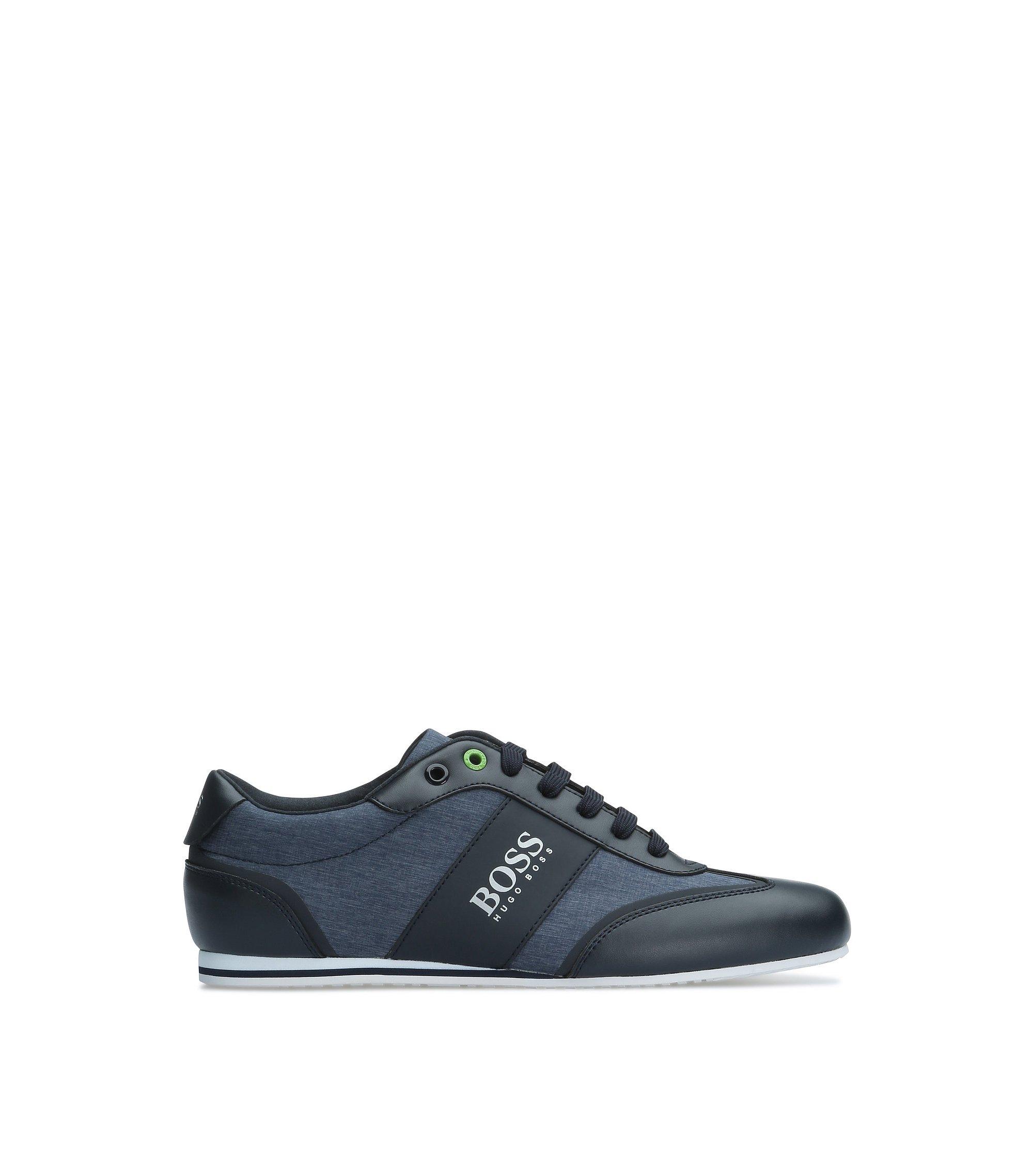 Sneakers van glad leer en een gestructureerde materiaalmix: 'Lighter_Lowp_nych', Donkerblauw