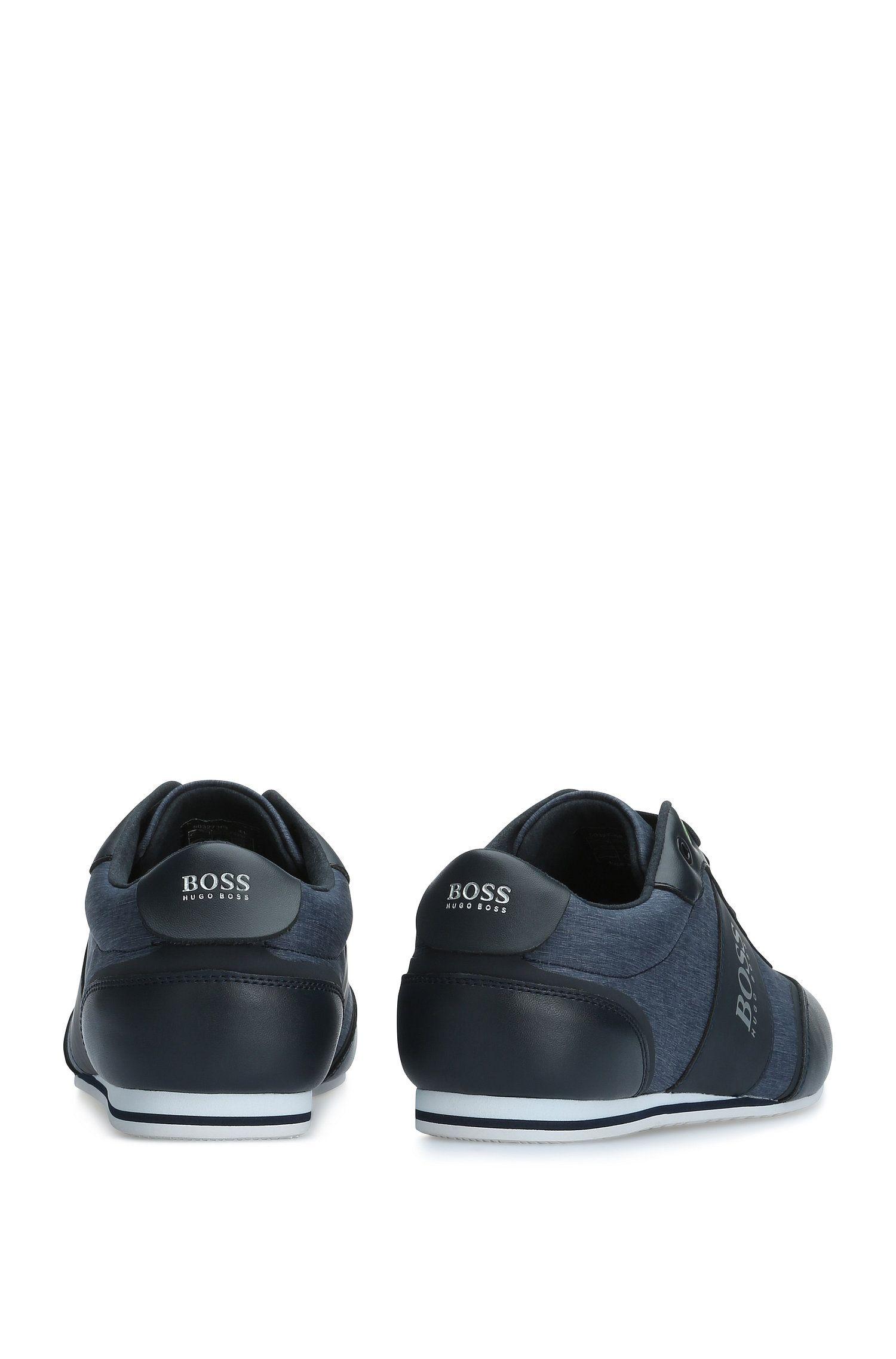 Sneakers van glad leer en een gestructureerde materiaalmix: 'Lighter_Lowp_nych'