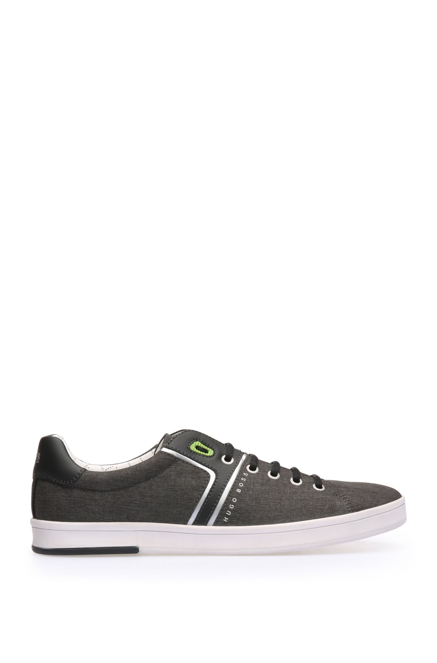 Trainers in woven textile and leather: 'RayAdv_Tenn_nych'