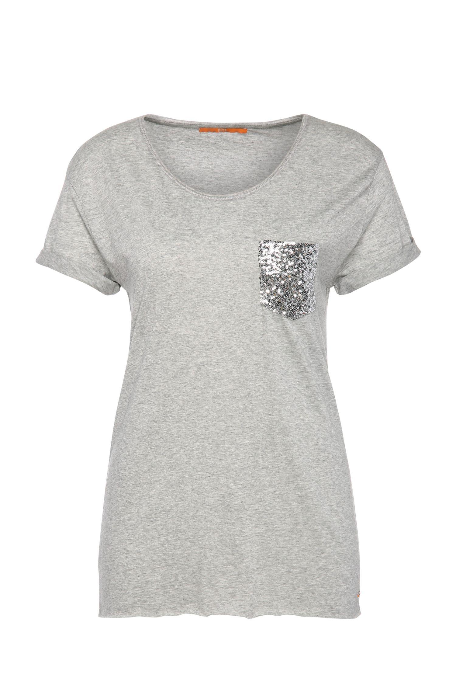 T-shirt Regular Fit ornementé, en mélange de matières à teneur en coton: «Tamiasa»
