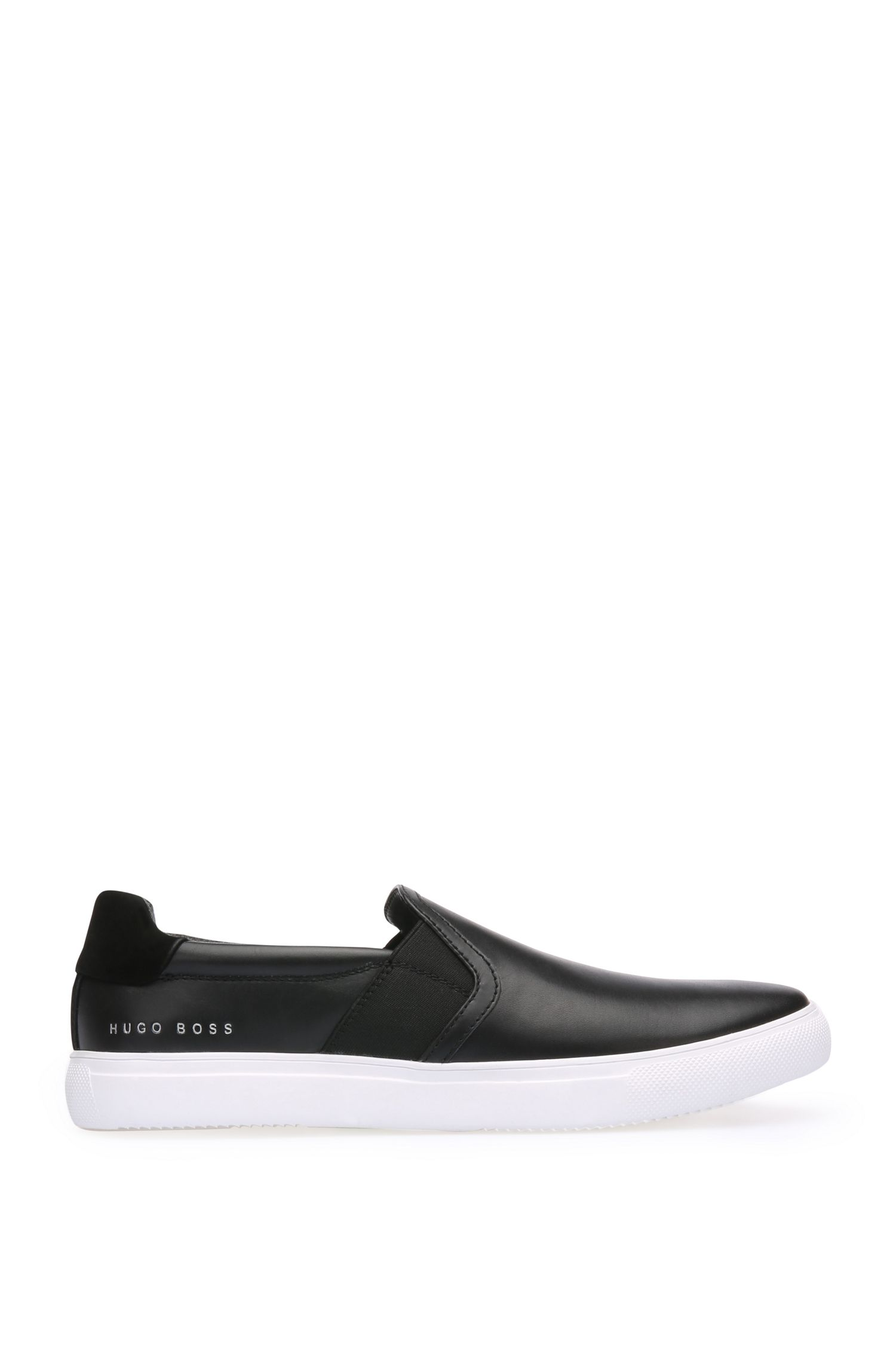 Trainers in smooth leather with nubuck sections: 'Enlight_Slon_lt'