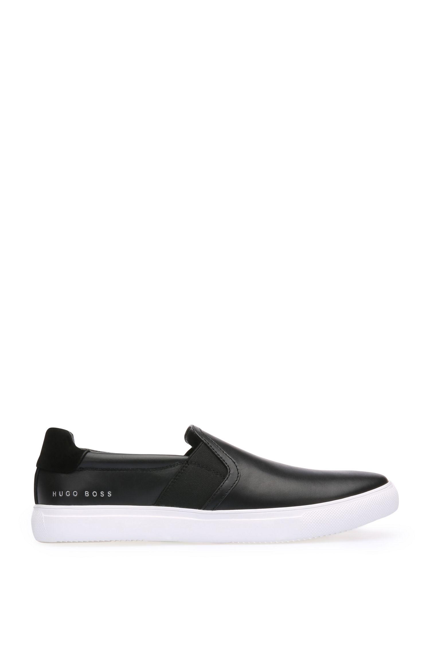 Sneakers van glad leer met delen van nubuck: 'Enlight_Slon_lt'
