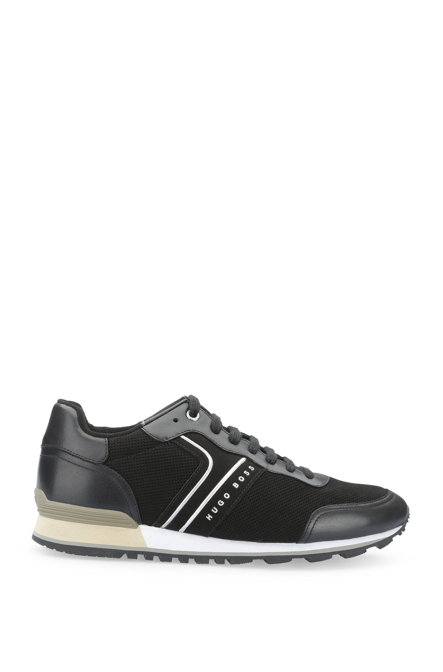 Sneakers in pelle mista traforata: 'Parkour_Runn_ltnu'