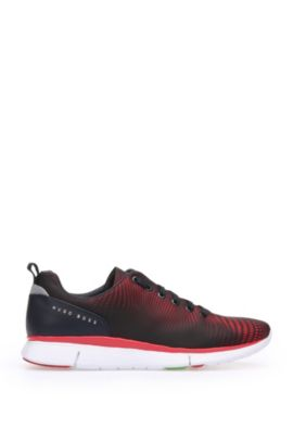 Trainers in leather and textile: 'Gym_Runn_nypr1', Open Red