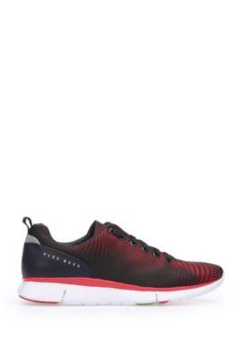 Sneakers in pelle e tessuto: 'Gym_Runn_nypr1', Rosso chiaro