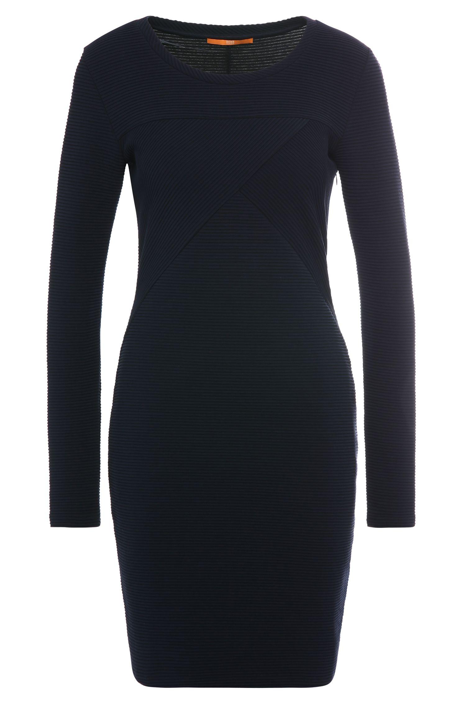 Strukturiertes Slim-Fit Kleid aus elastischem Baumwoll-Mix: ´Derbody`