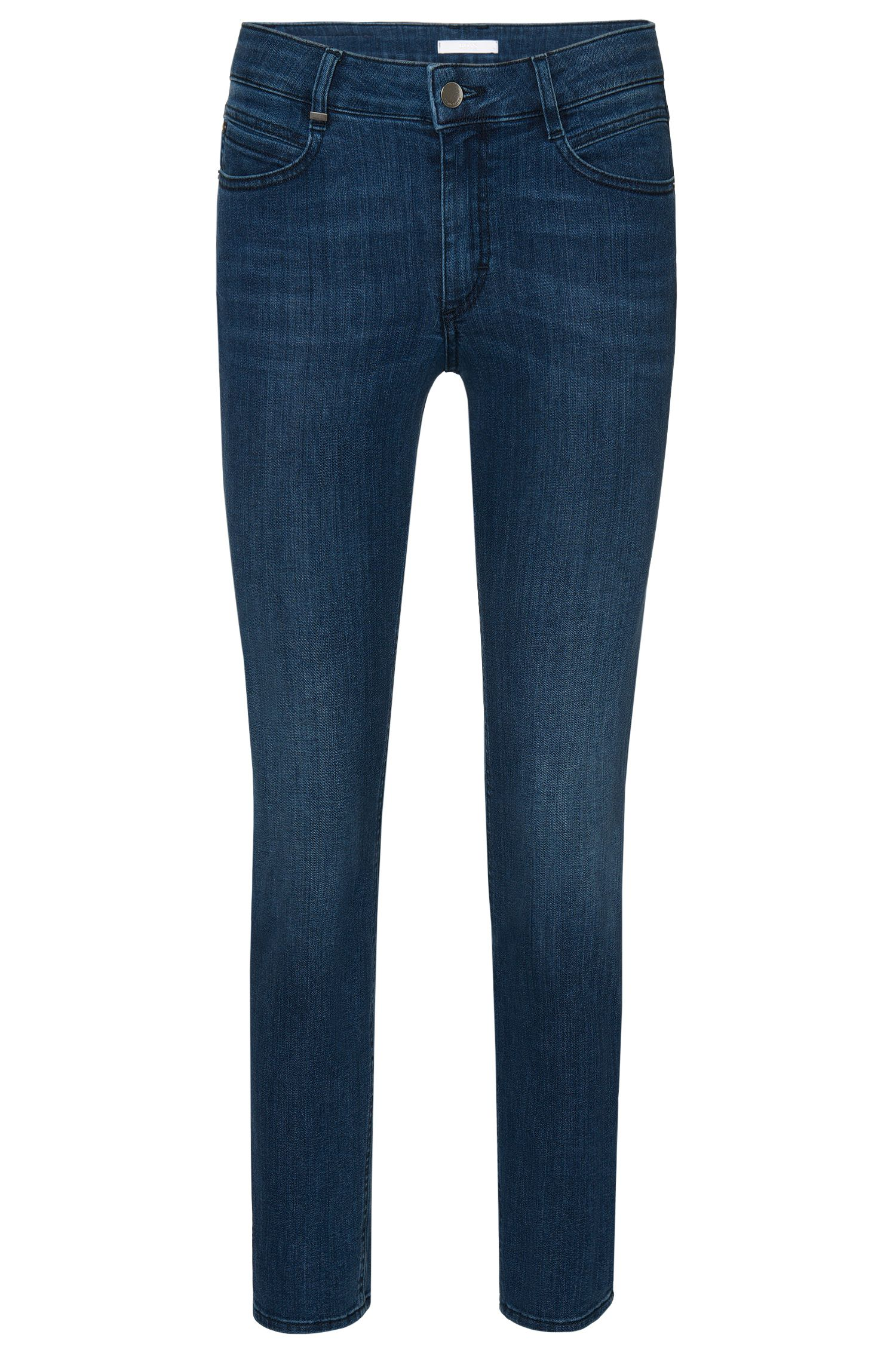Regular-fit jeans made from stretchy cotton blend in a cropped length: 'Nelin'