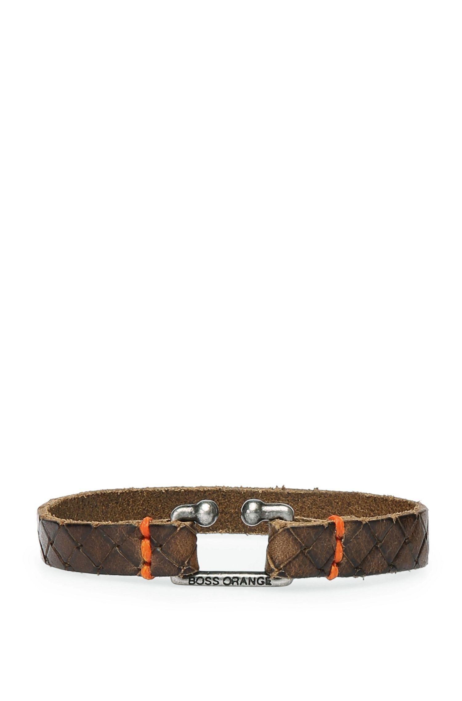 Leather bracelet in vintage look: 'Morris2'
