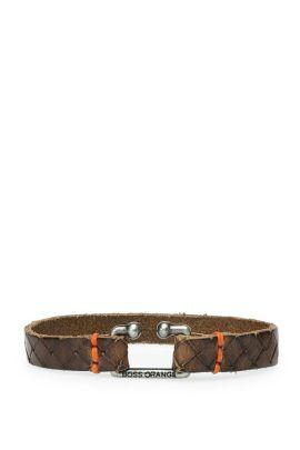 Leather bracelet in vintage look: 'Morris2', Dark Brown