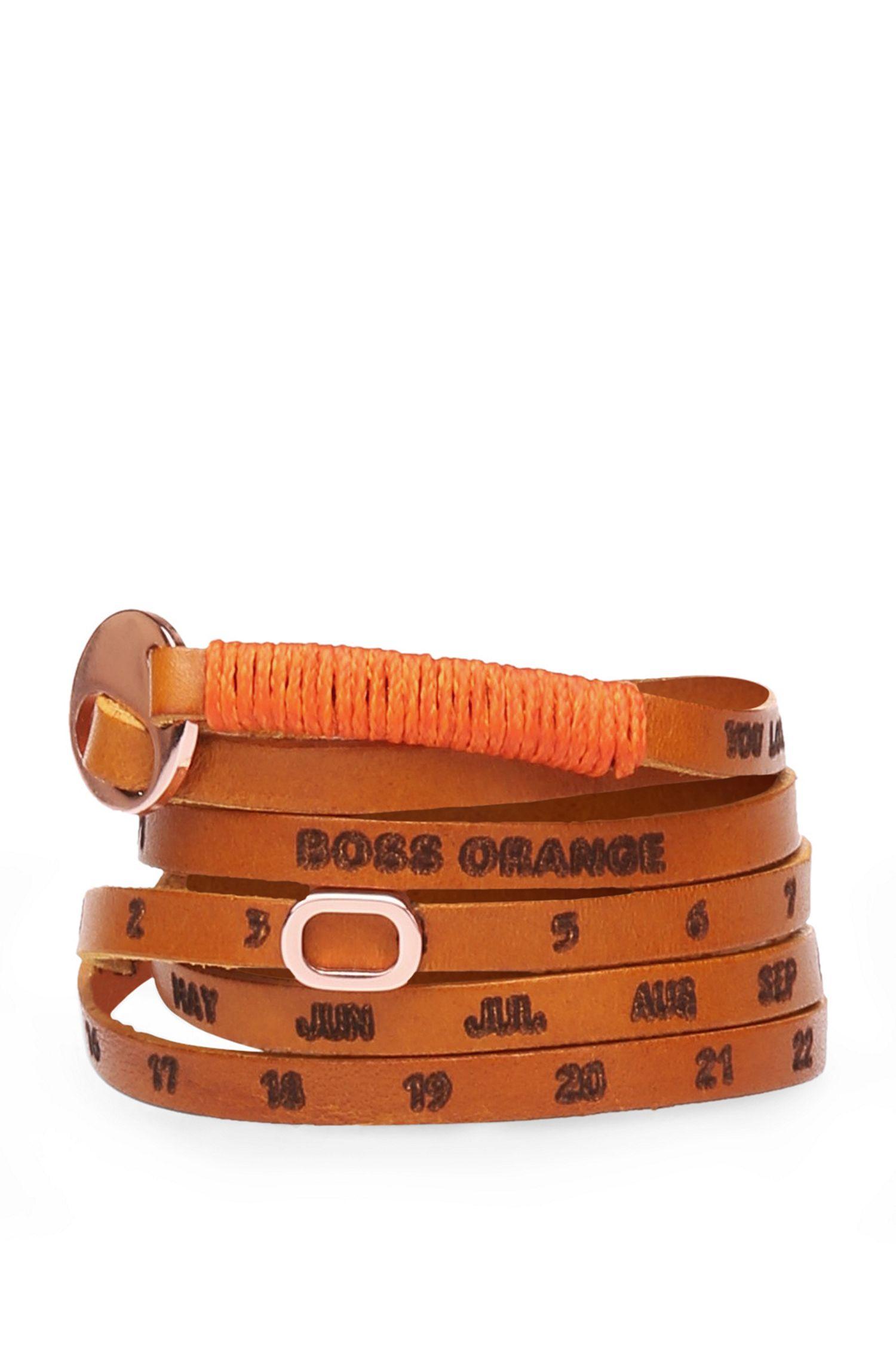 Schmales Wickelarmband aus Leder: ´Minice`