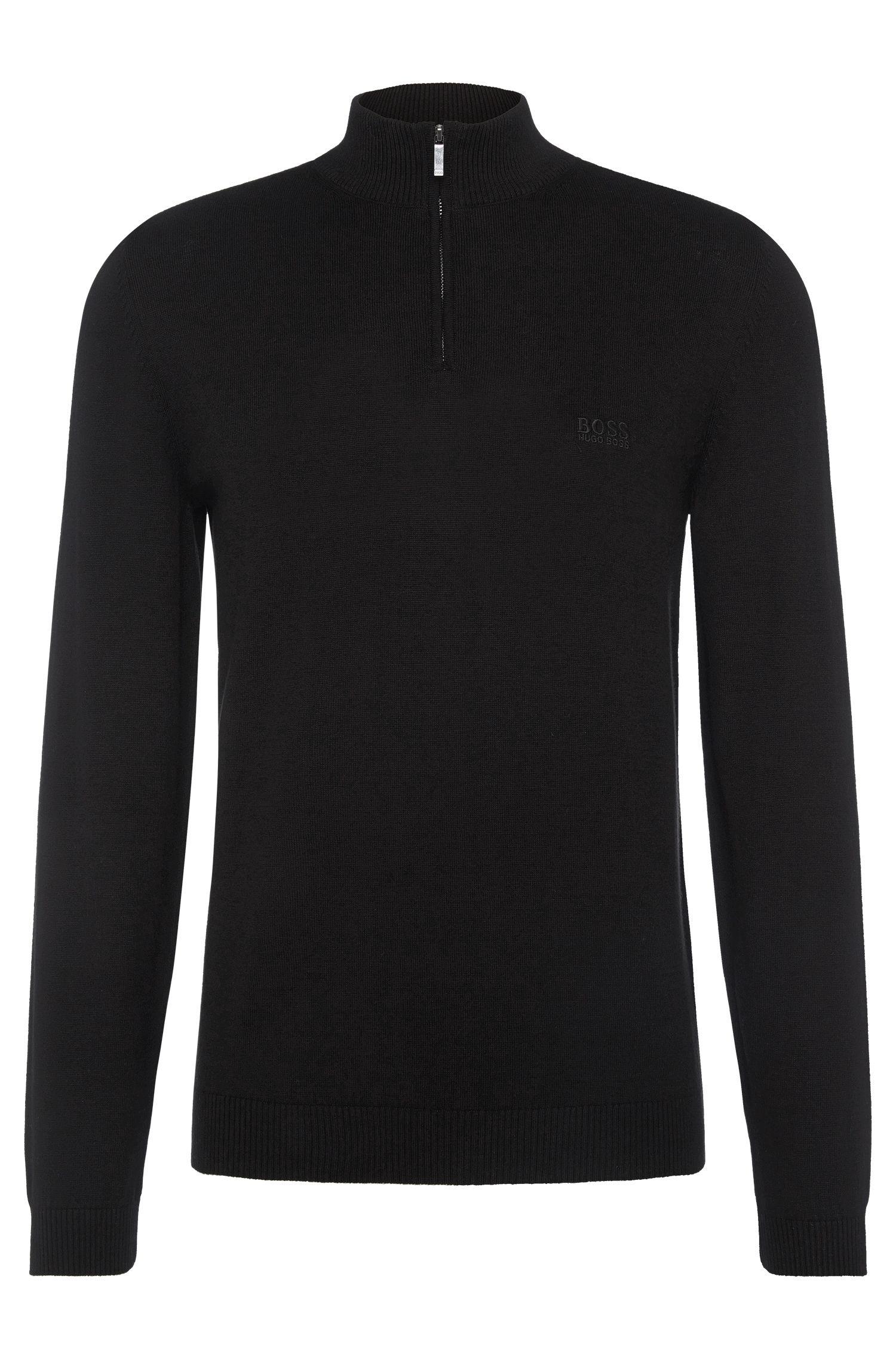 Regular-fit trui van katoen met opstaande kraag: 'Igor'