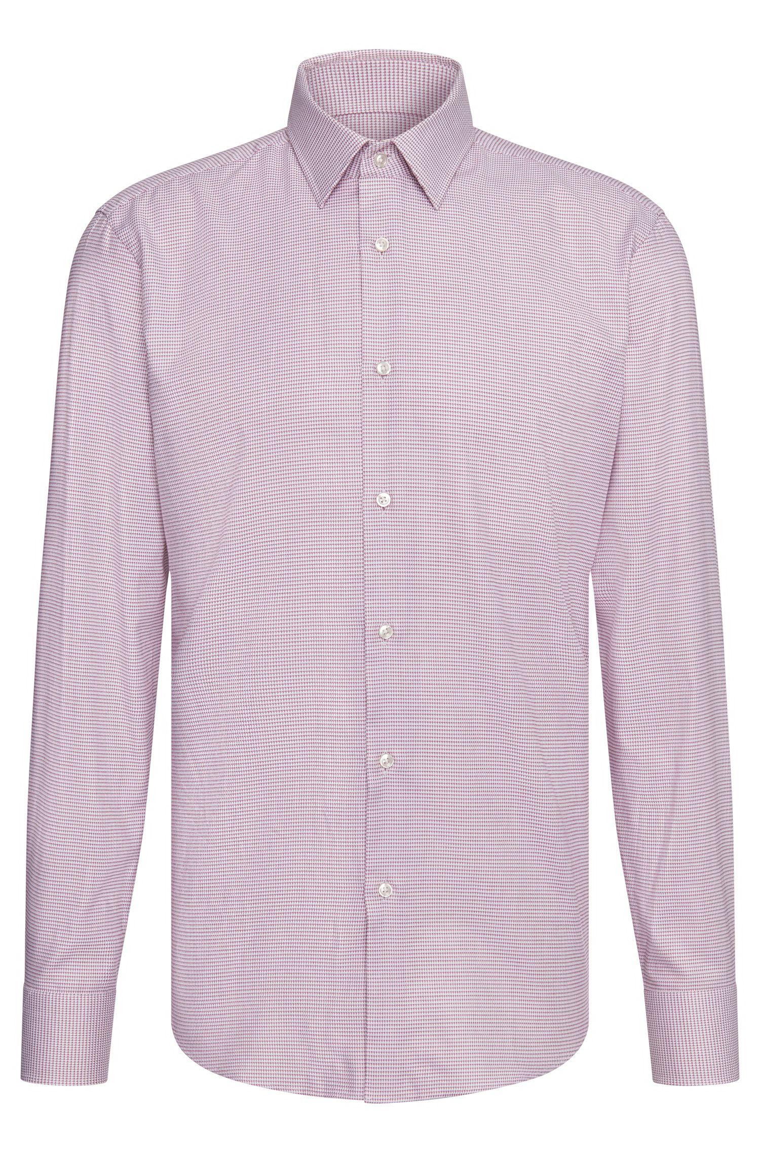 Regular-fit overhemd van katoen met all-over dessin: 'Enzo'