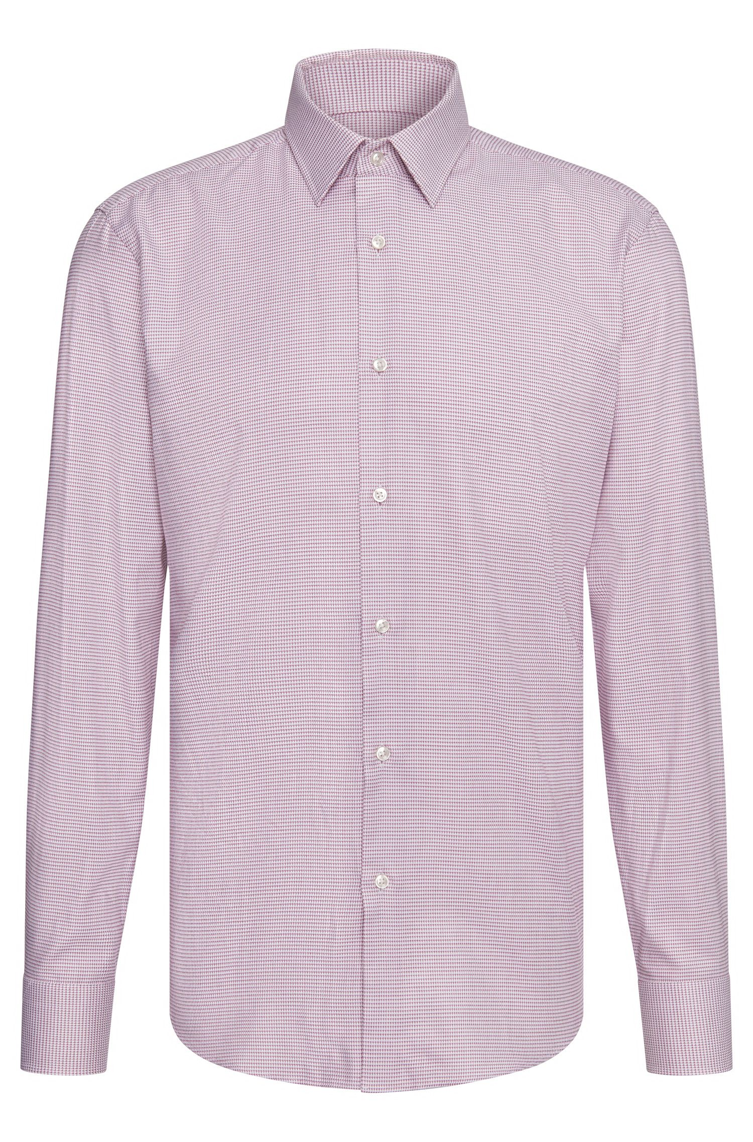 Camicia regular fit in cotone con disegni all-over: 'Enzo'