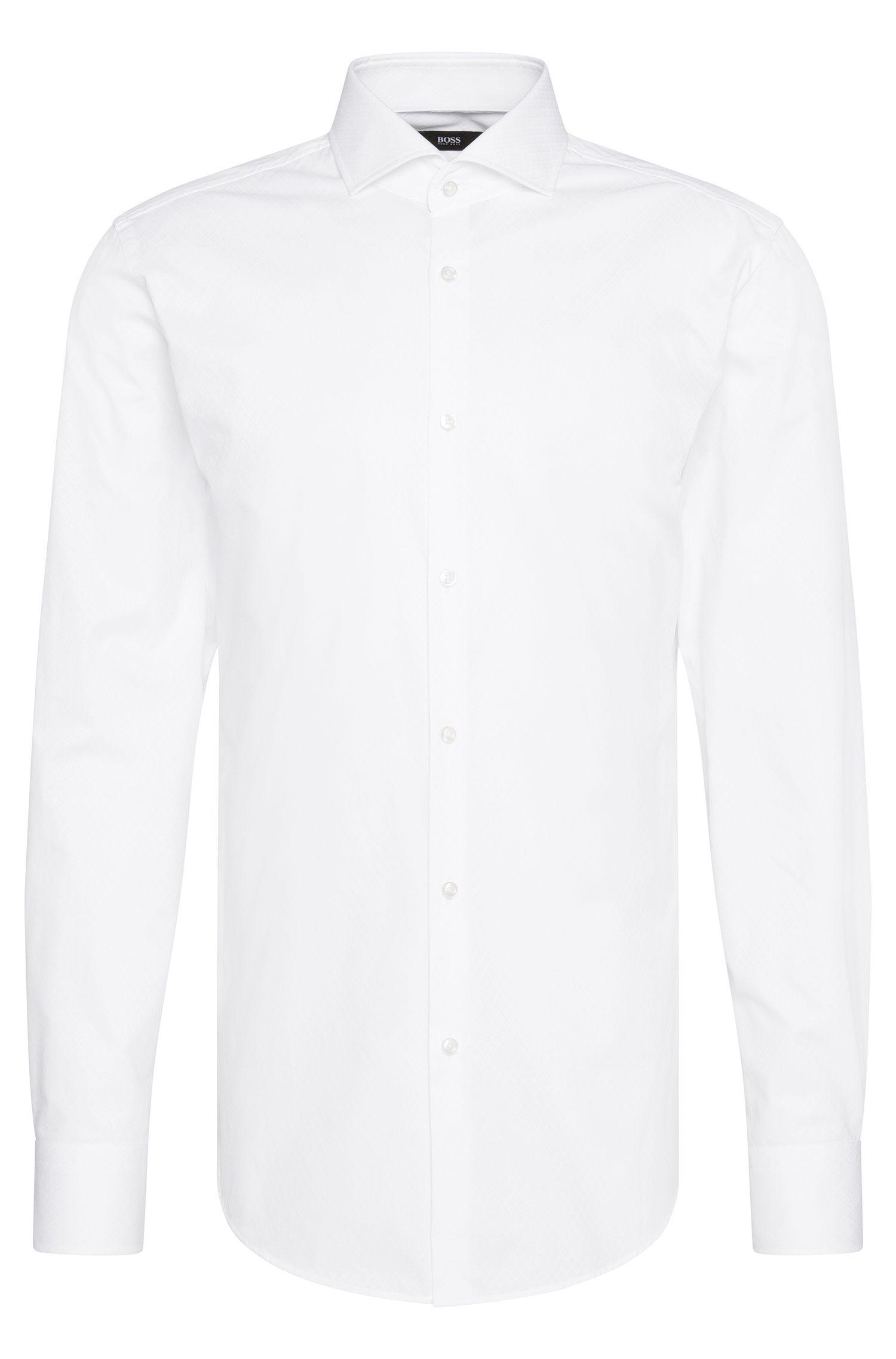 Camisa slim fit en algodón con textura fina: 'Jason'