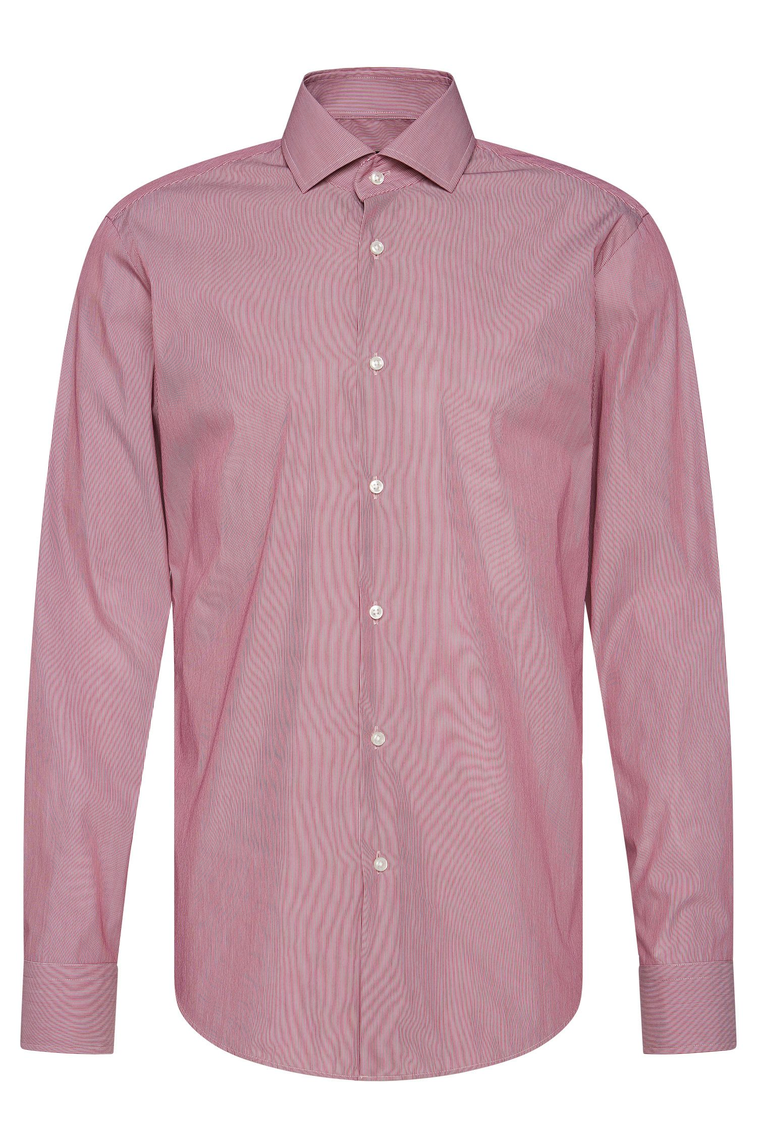 Finely striped regular-fit shirt in stretchy cotton blend: 'Gordon'