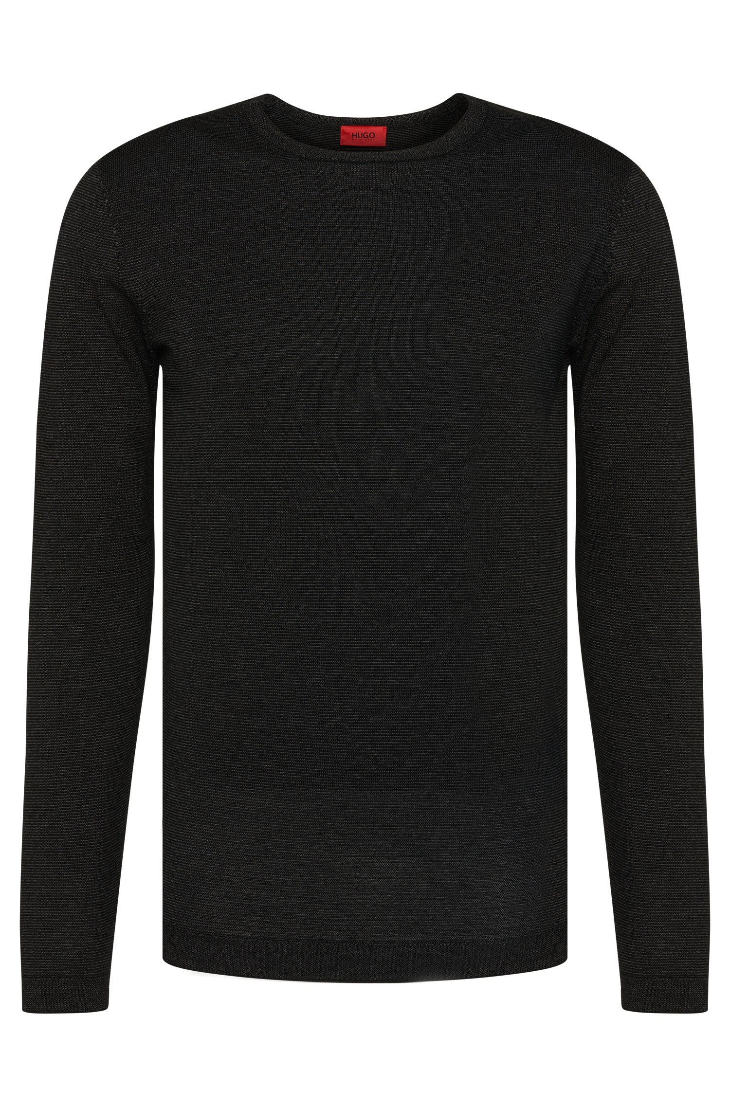 Regular-fit sweater in new-wool blend in metallic look: 'Salex'