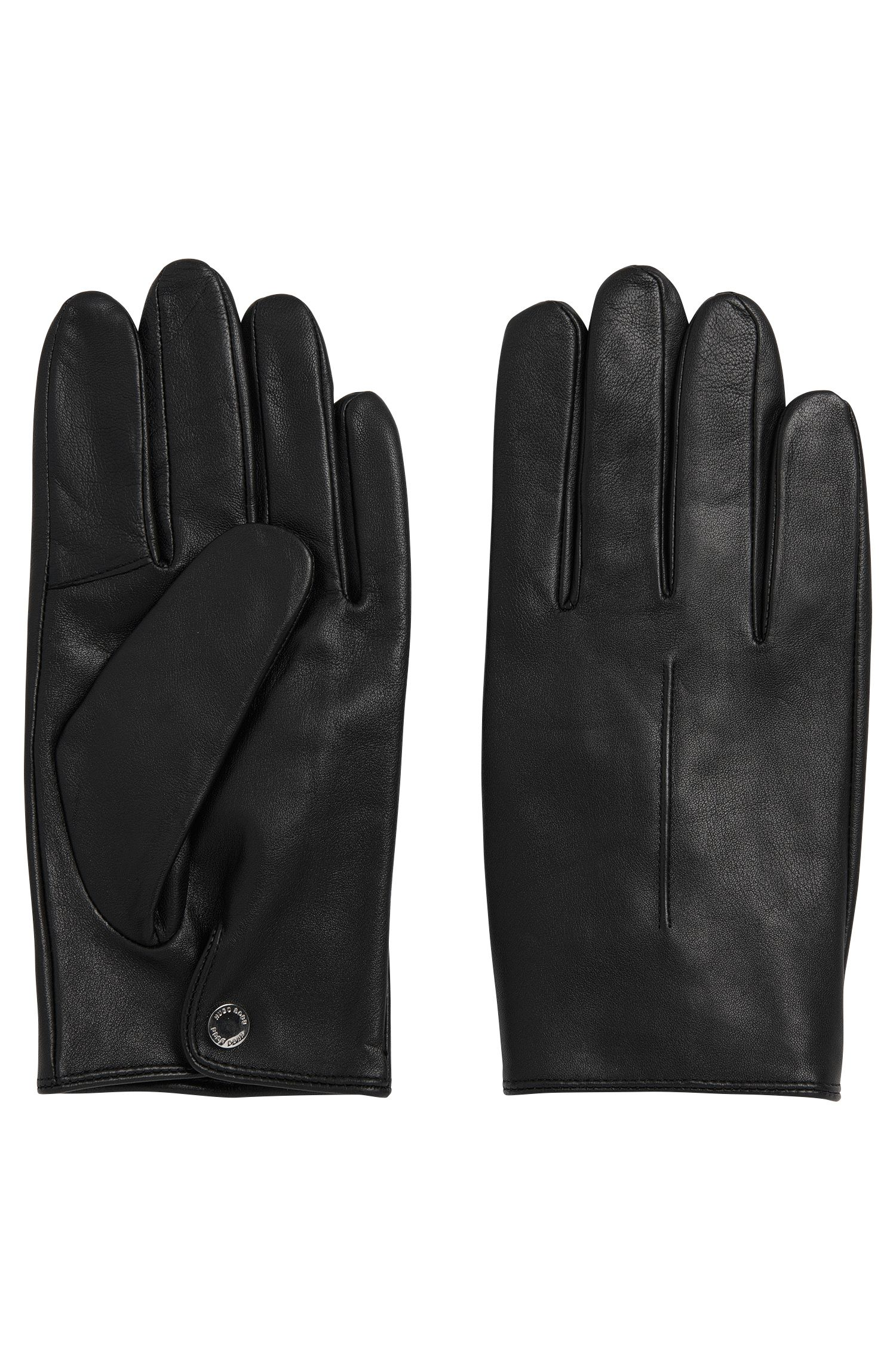 Leather gloves with press-stud fastening: 'Harol'