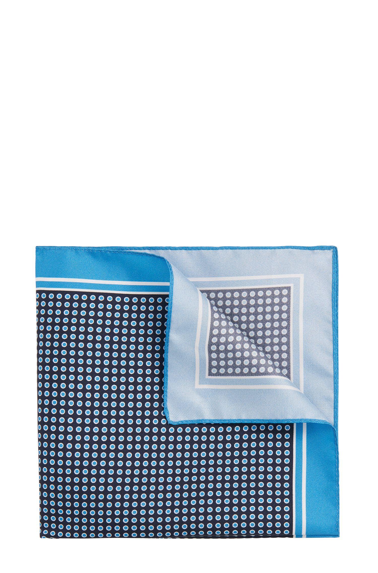 Gepunktetes Einstecktuch aus Seide: 'Pocket sq. cm 33x33'