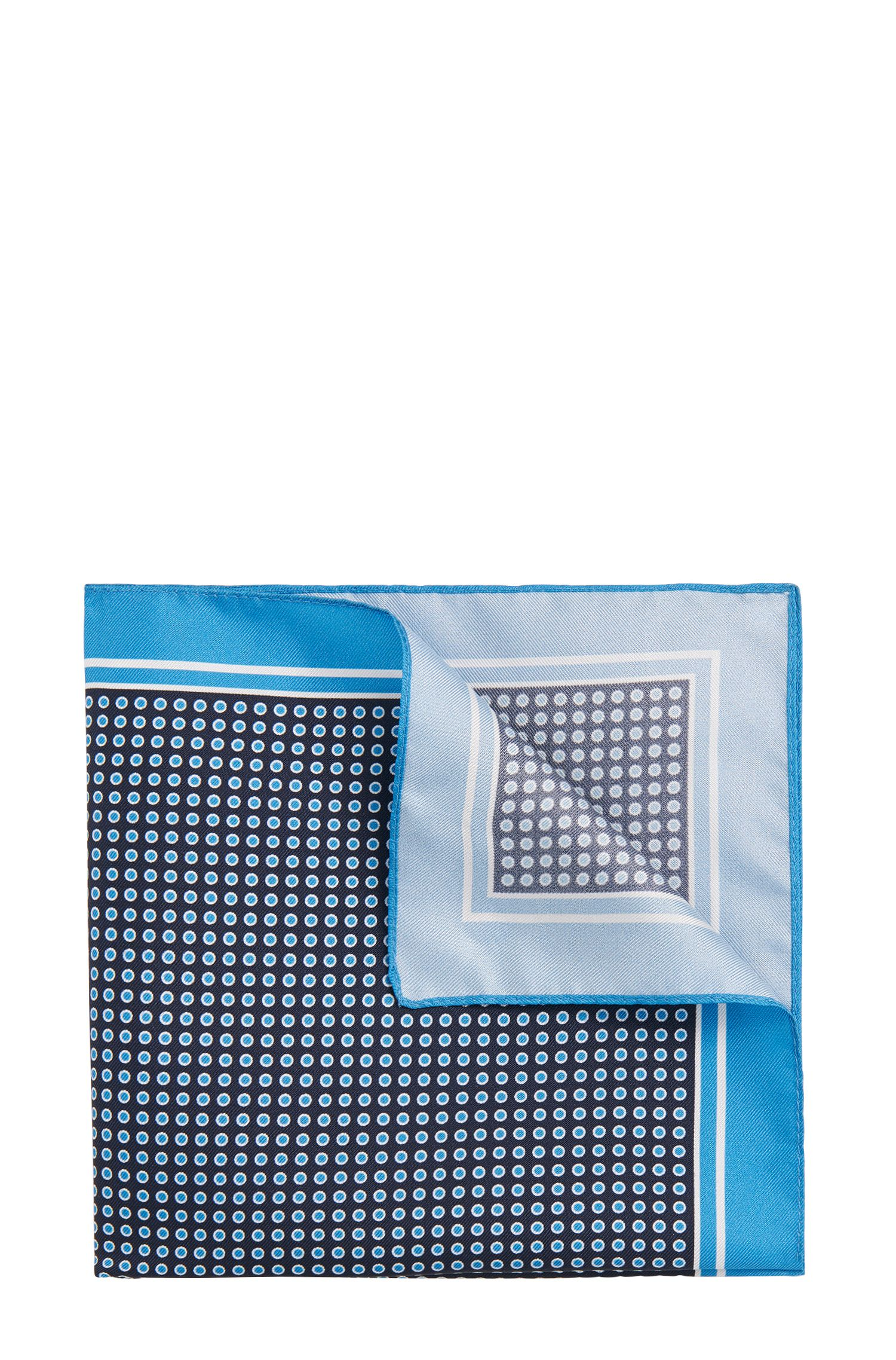 Polka-dot pattern silk pocket square: 'Pocket sq. 33x33 cm'