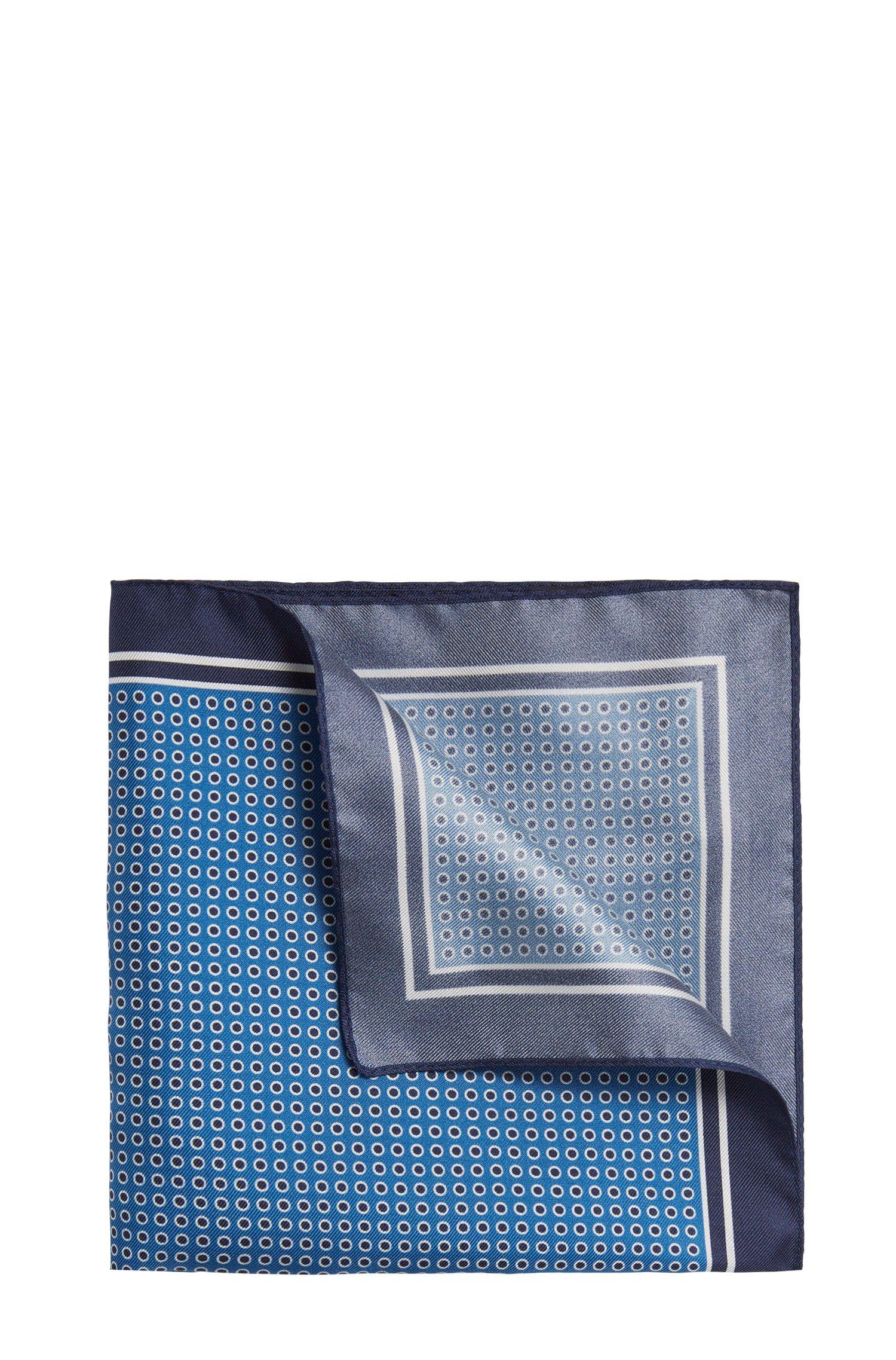 Gestippelde pochet van zijde: 'Pocket sq. 33x33 cm'