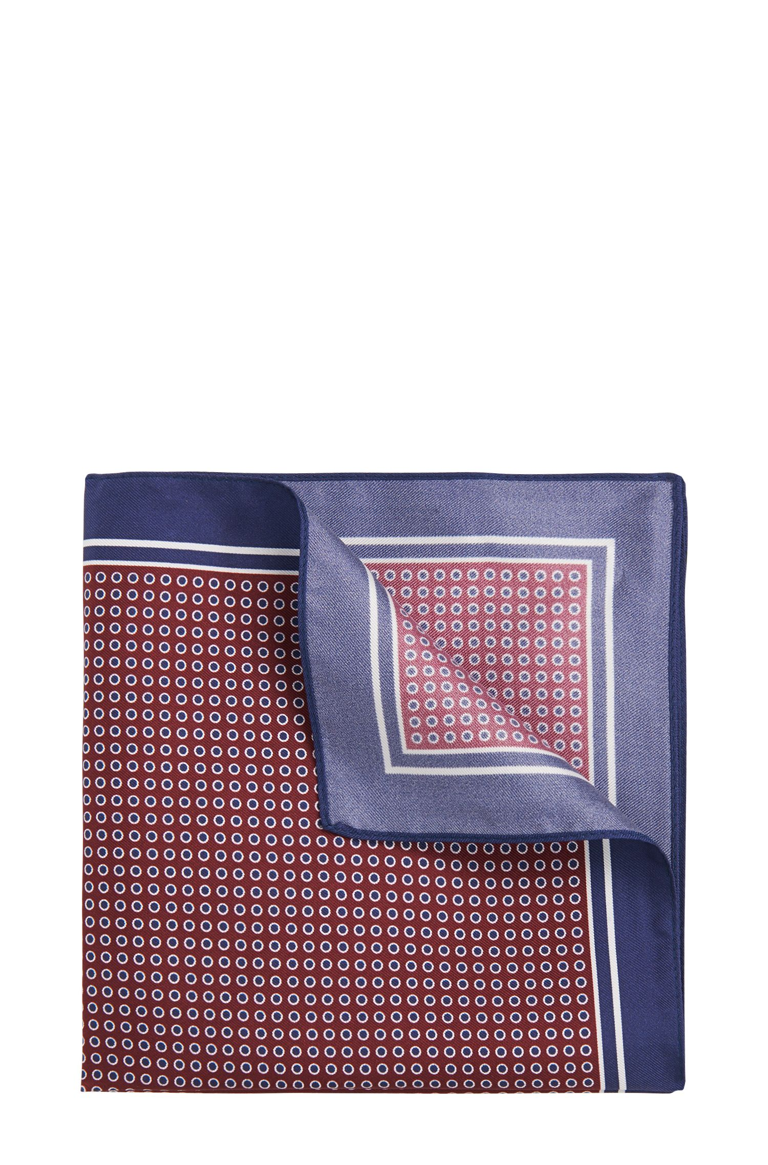 Pochette da taschino a pois in seta: 'Pocket sq. 33 x 33 cm'