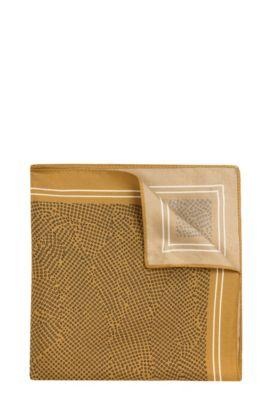 Pañuelo de bolsillo estampado en seda: 'Pocket sq. 33x33 cm', Verde