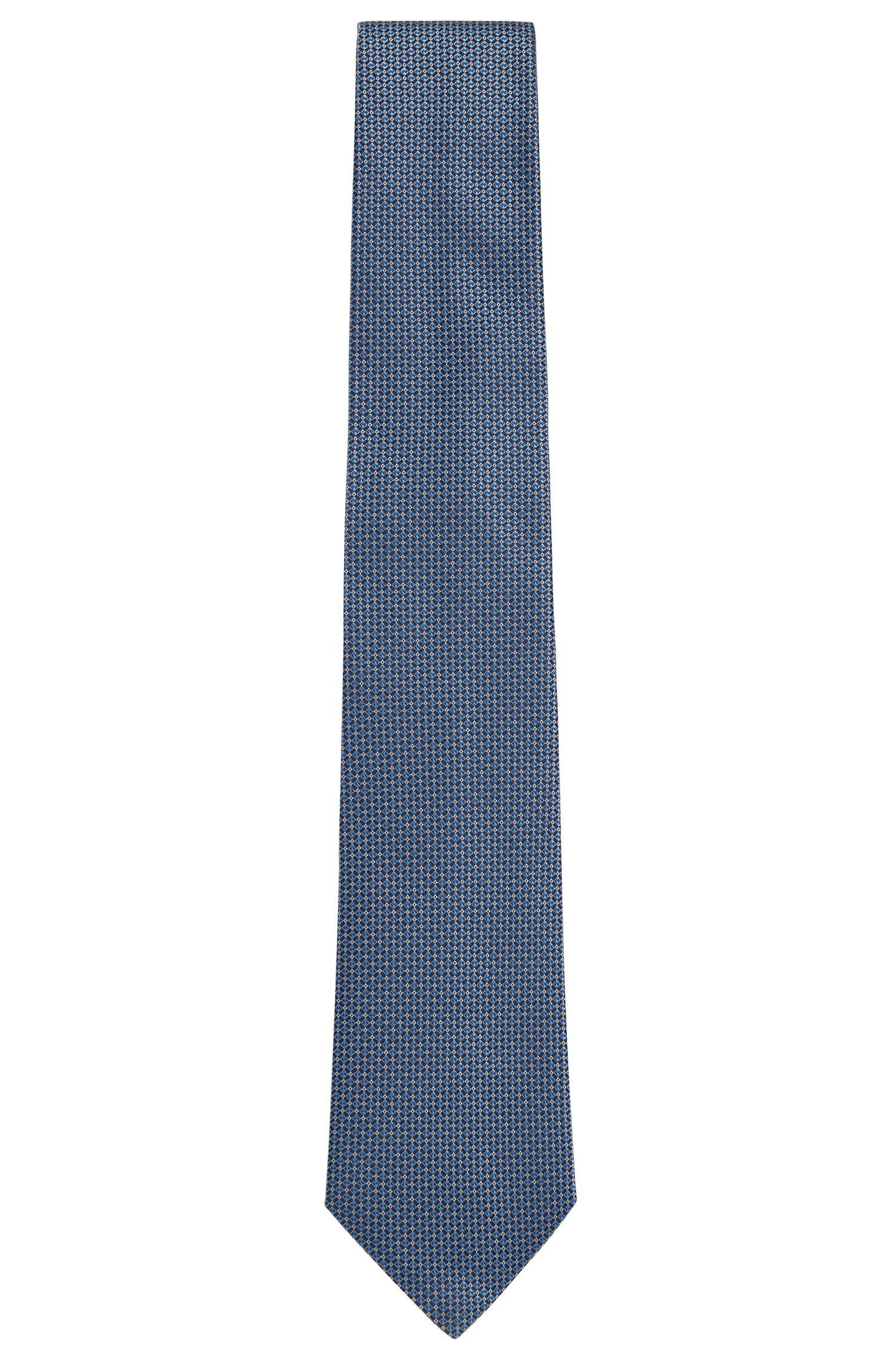 Stropdas van zijde met fijn dessin uit de Tailored-collectie: 'T-Tie 7,5 cm'