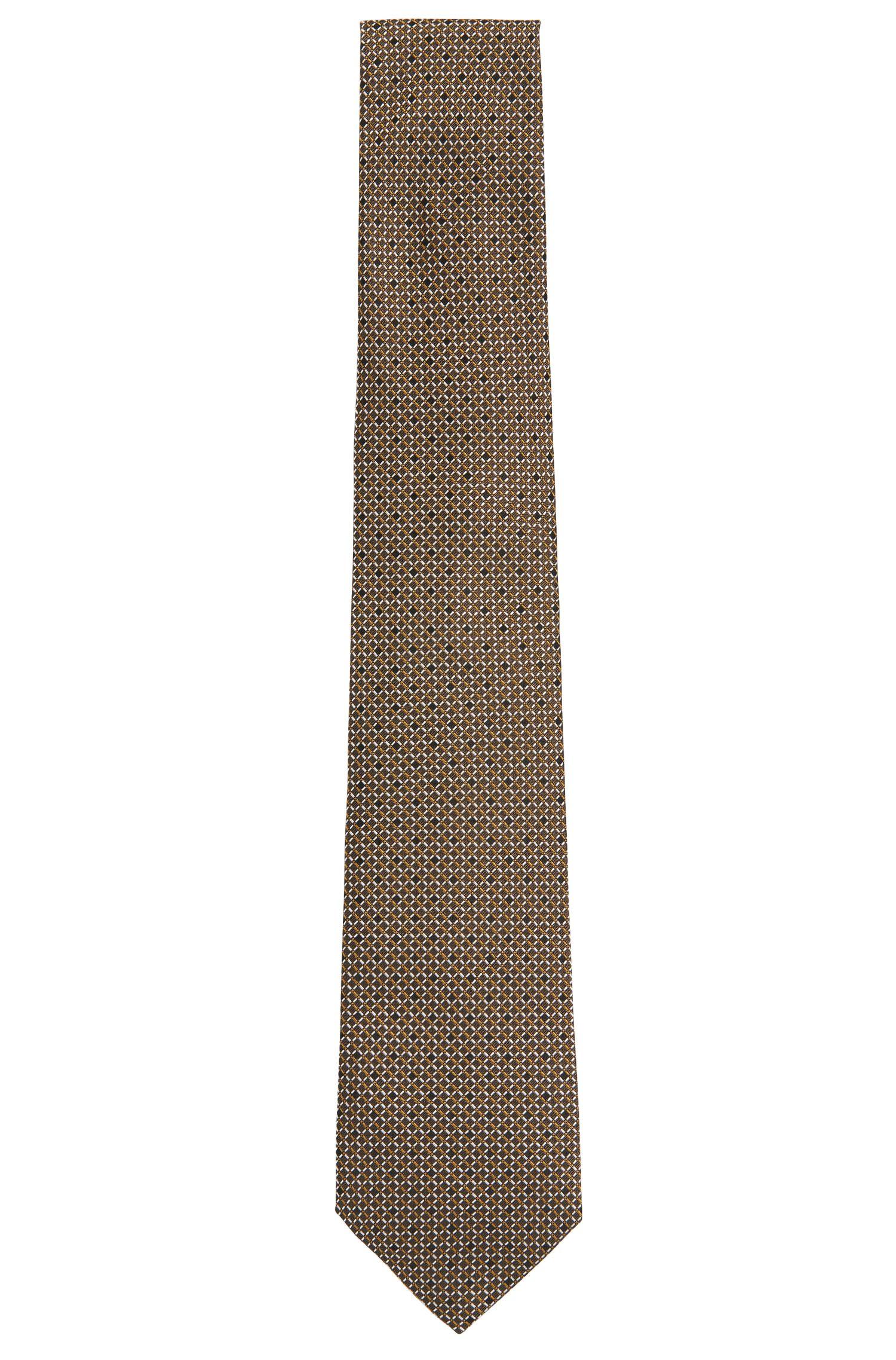 Stropdas uit de Tailored-collectie, van zijde met all-over-dessin: 'T-Tie 7,5 cm'