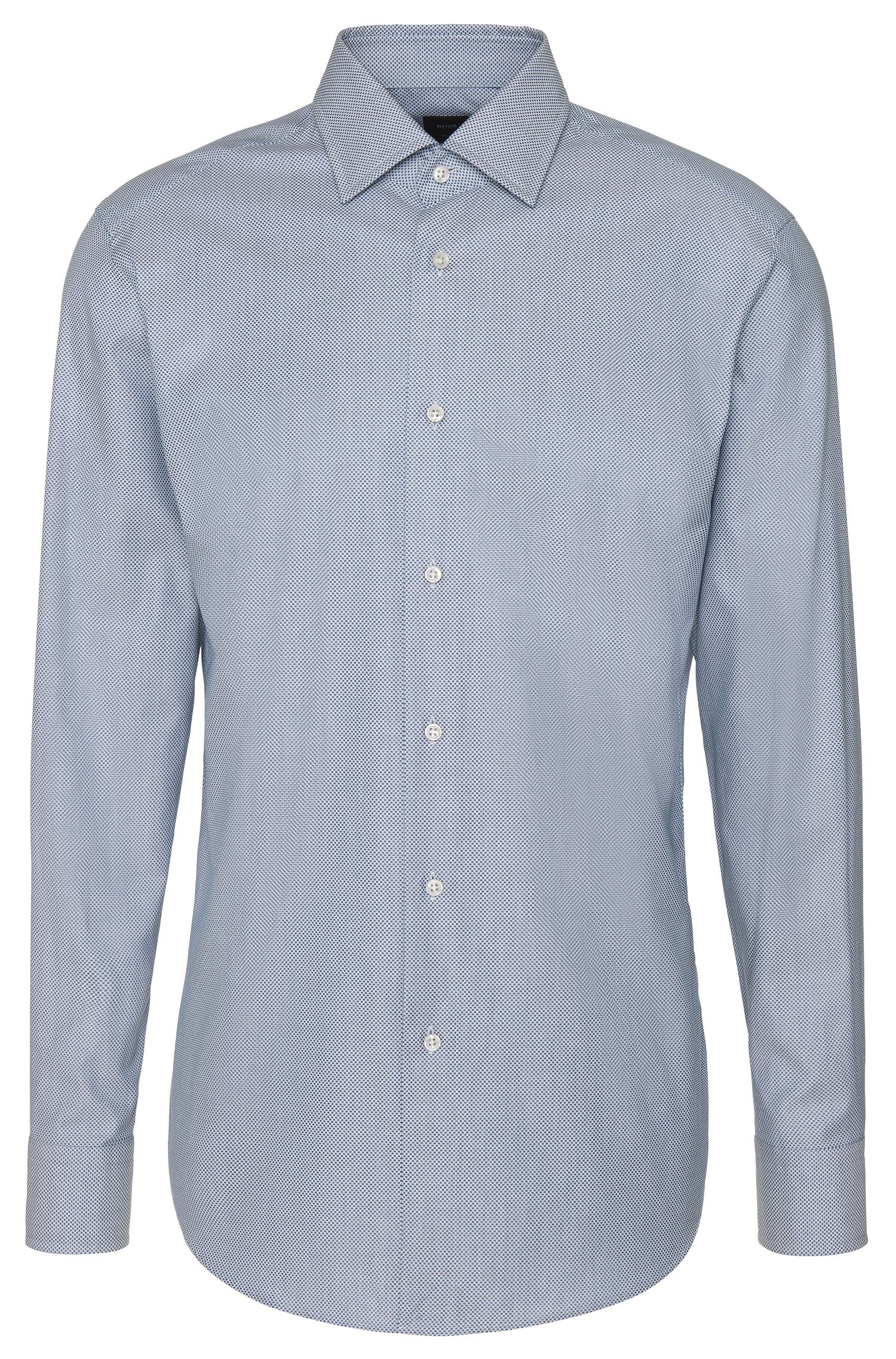 Fein gemustertes Regular-Fit Tailored Hemd aus Baumwolle: 'T-Stuart'