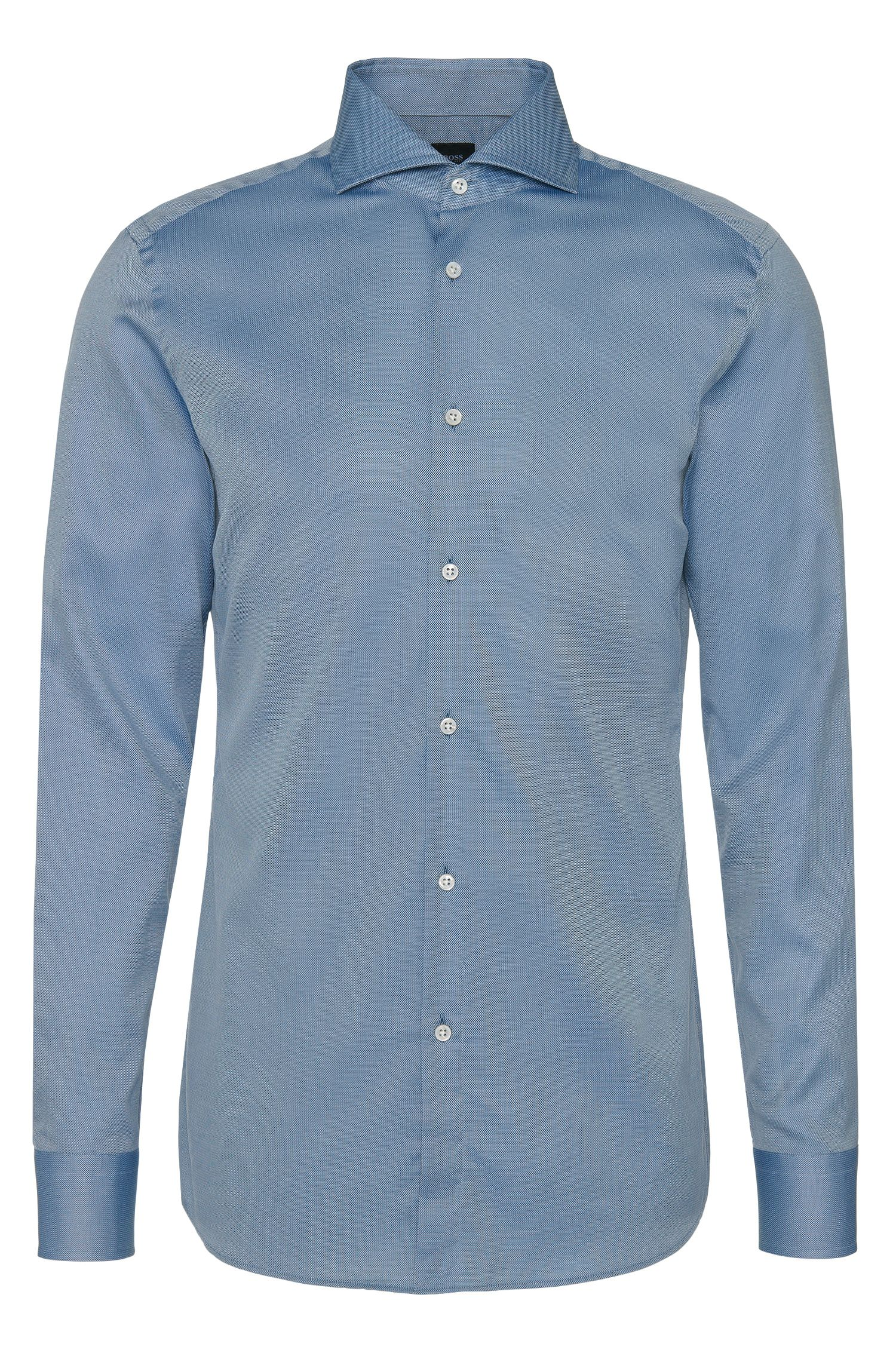 Fein gemustertes Slim-Fit Tailored Hemd aus Baumwolle: 'T-Christo'