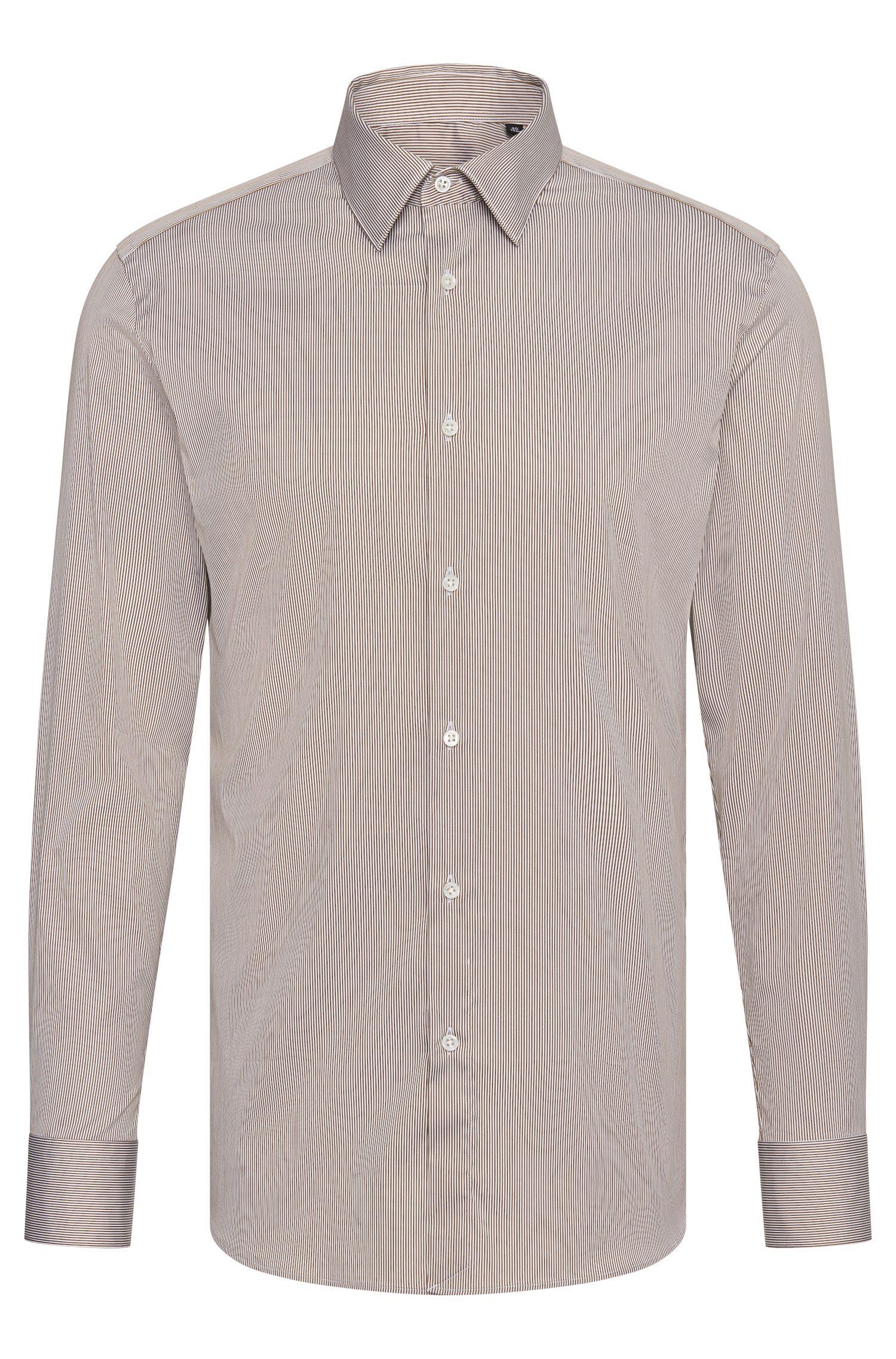 Camisa a rayas Tailored slim fit en mezcla de algodón: 'T-Clint'