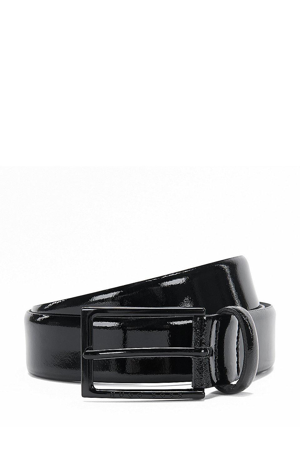design de qualité 8a905 b1444 BOSS - Ceinture en cuir verni avec boucle à ardillon : « Cirano_Sz30_pa »