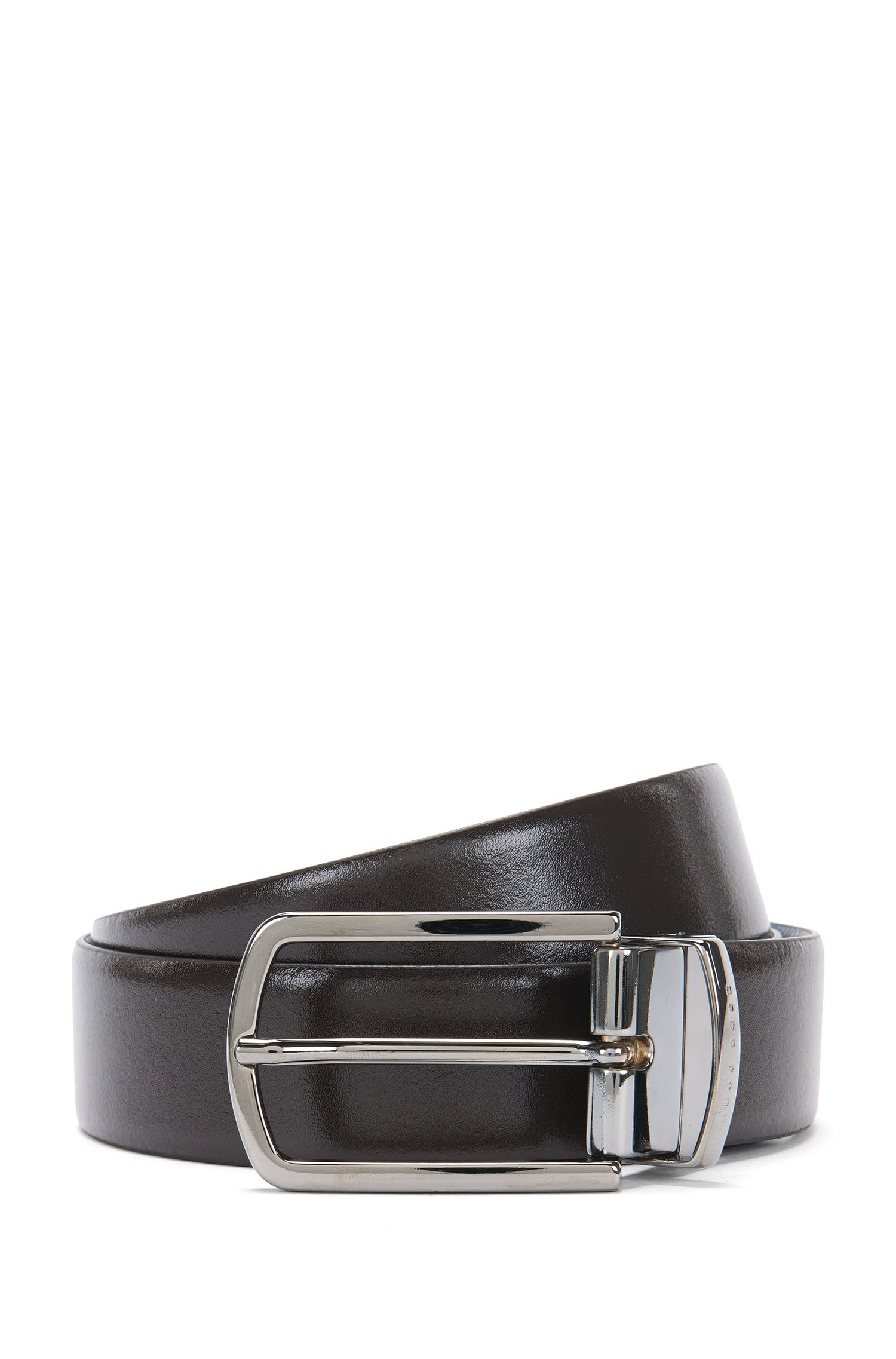 Reversible leather belt in a mixture of colours and textures: 'Ofiro_Or32_ps'
