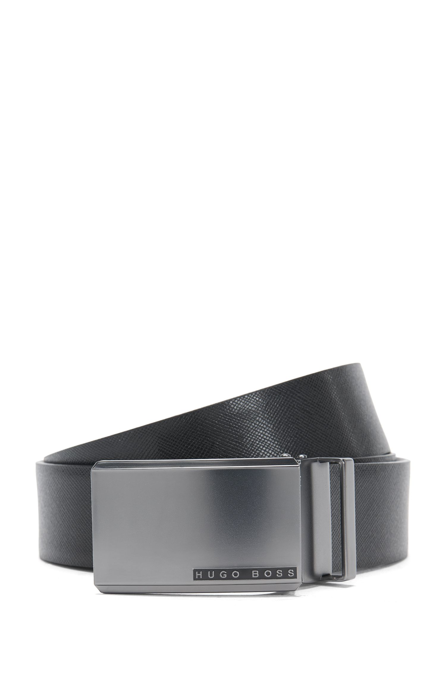 Reversible leather belt with exchangeable clasps: 'Gert_Gb35_ps'