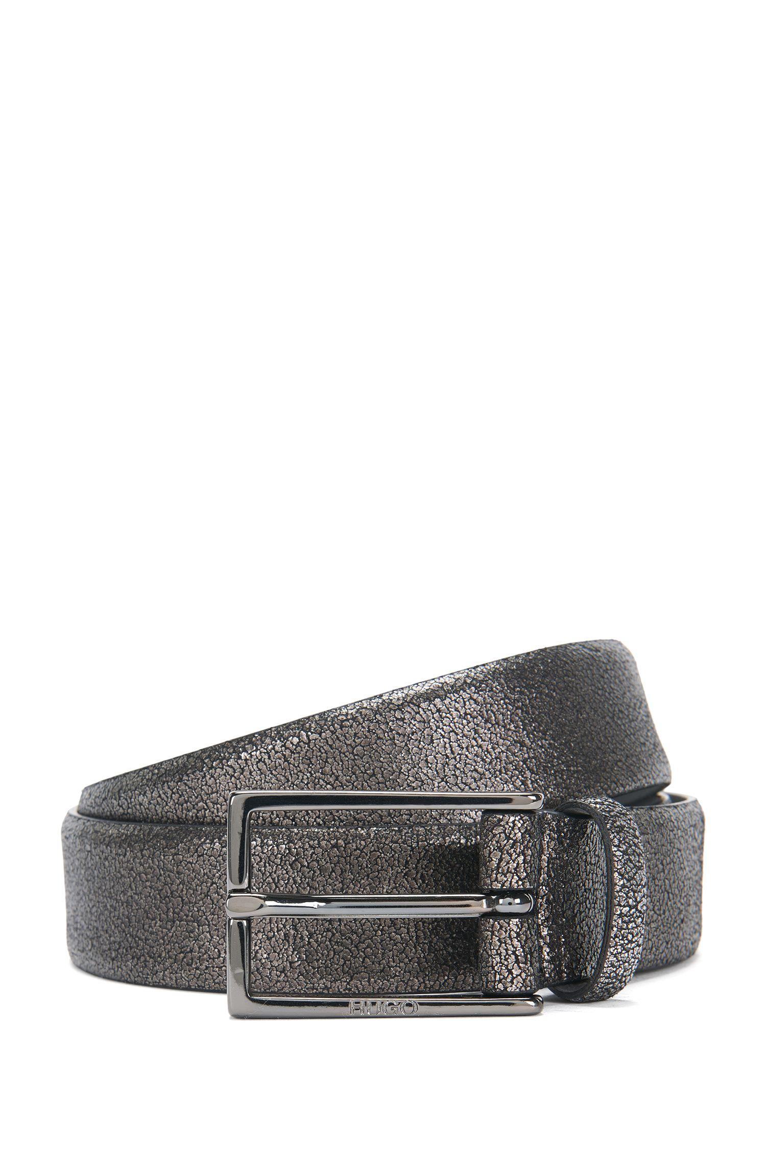 Cinturón de piel con look metalizado: 'Giantico_Sz30_ltem'