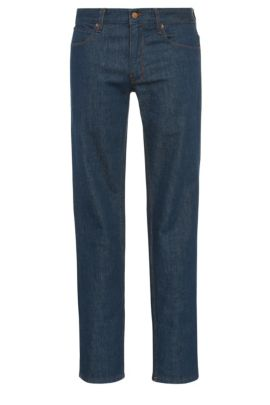 Jeans Slim Fit en coton extensible : « Orange63 », Bleu foncé