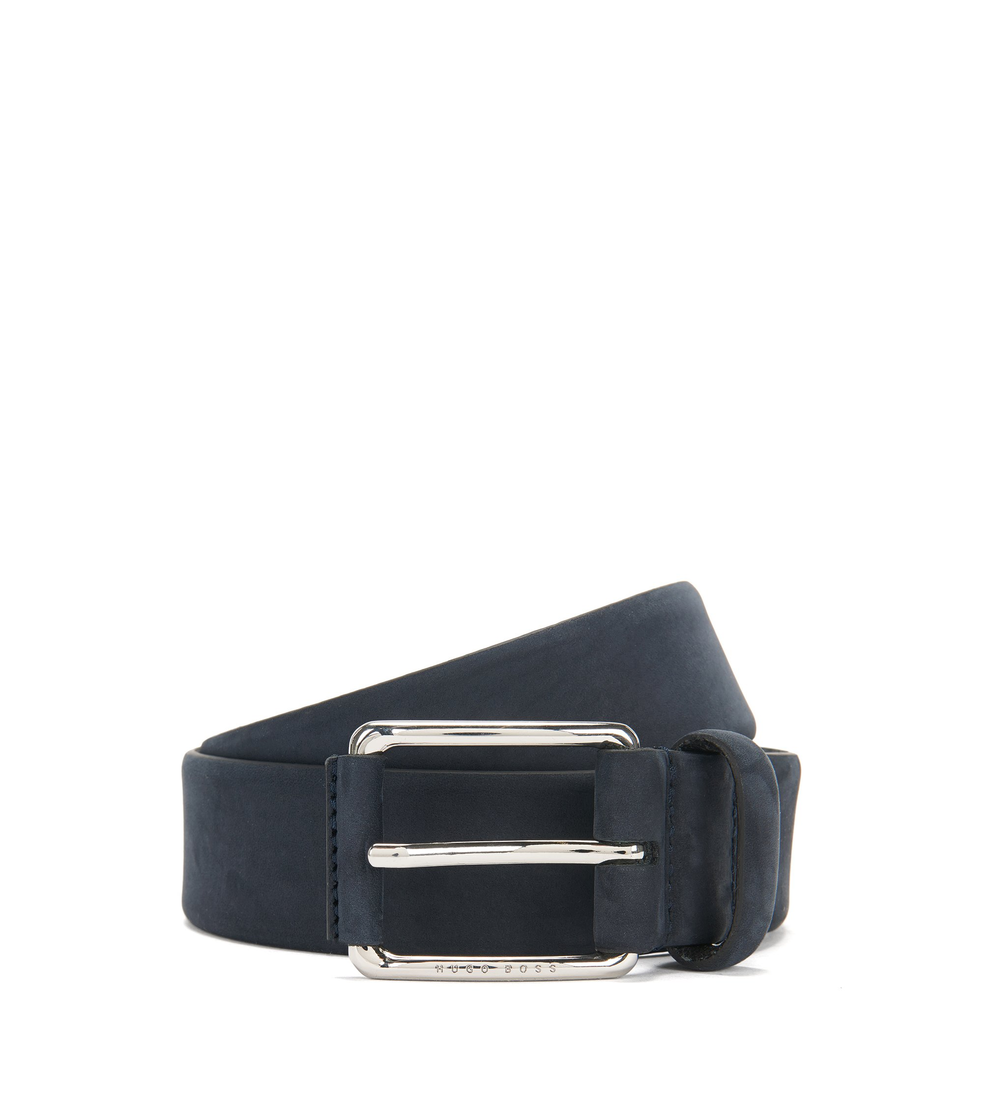 Belt in nubuck leather: 'Catios_Sz35_nupl', Dark Blue