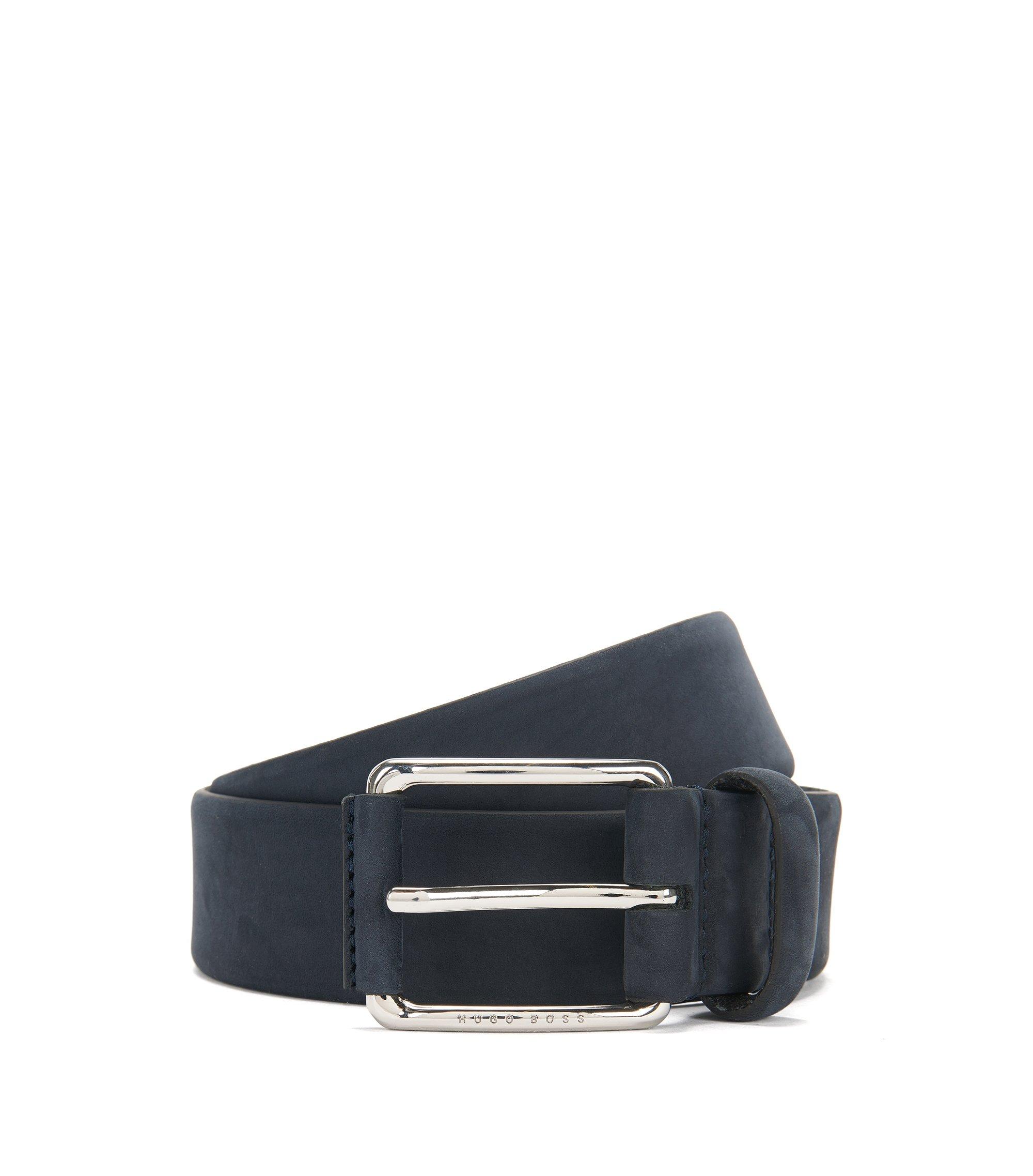 Cinturón en piel nobuk: 'Catios_Sz35_nupl', Azul oscuro