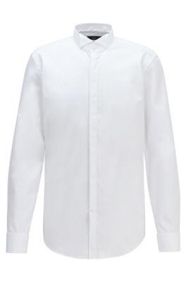 Chemise business Slim Fit en pur coton, Blanc