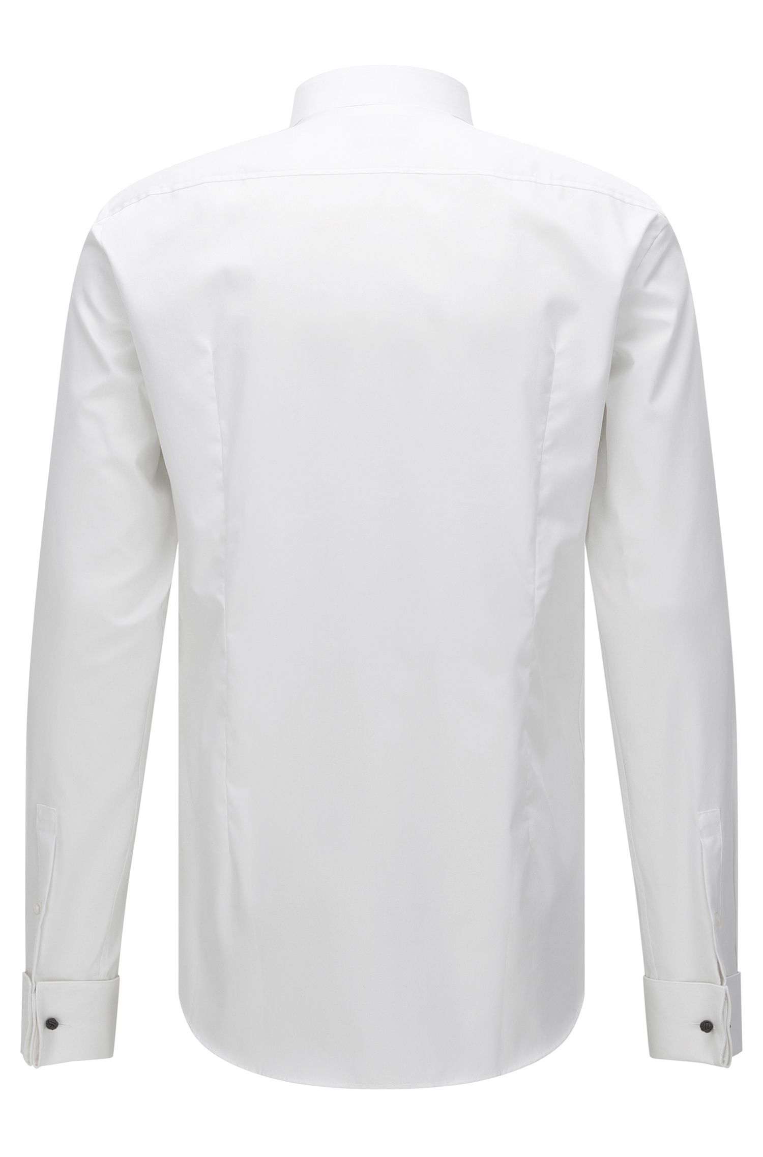 Chemise business Slim Fit en pur coton, Blanc