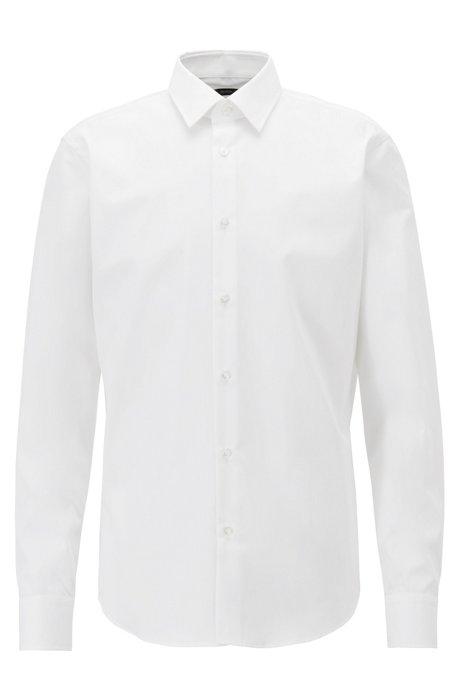 Zakelijk regular-fit overhemd van zuiver katoen, Wit