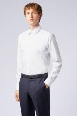 Casual Button-down Shirts Clothing, Shoes & Accessories Mens Shirt Hugo Boss Green White Stripes Regular Fit Button Down Medium