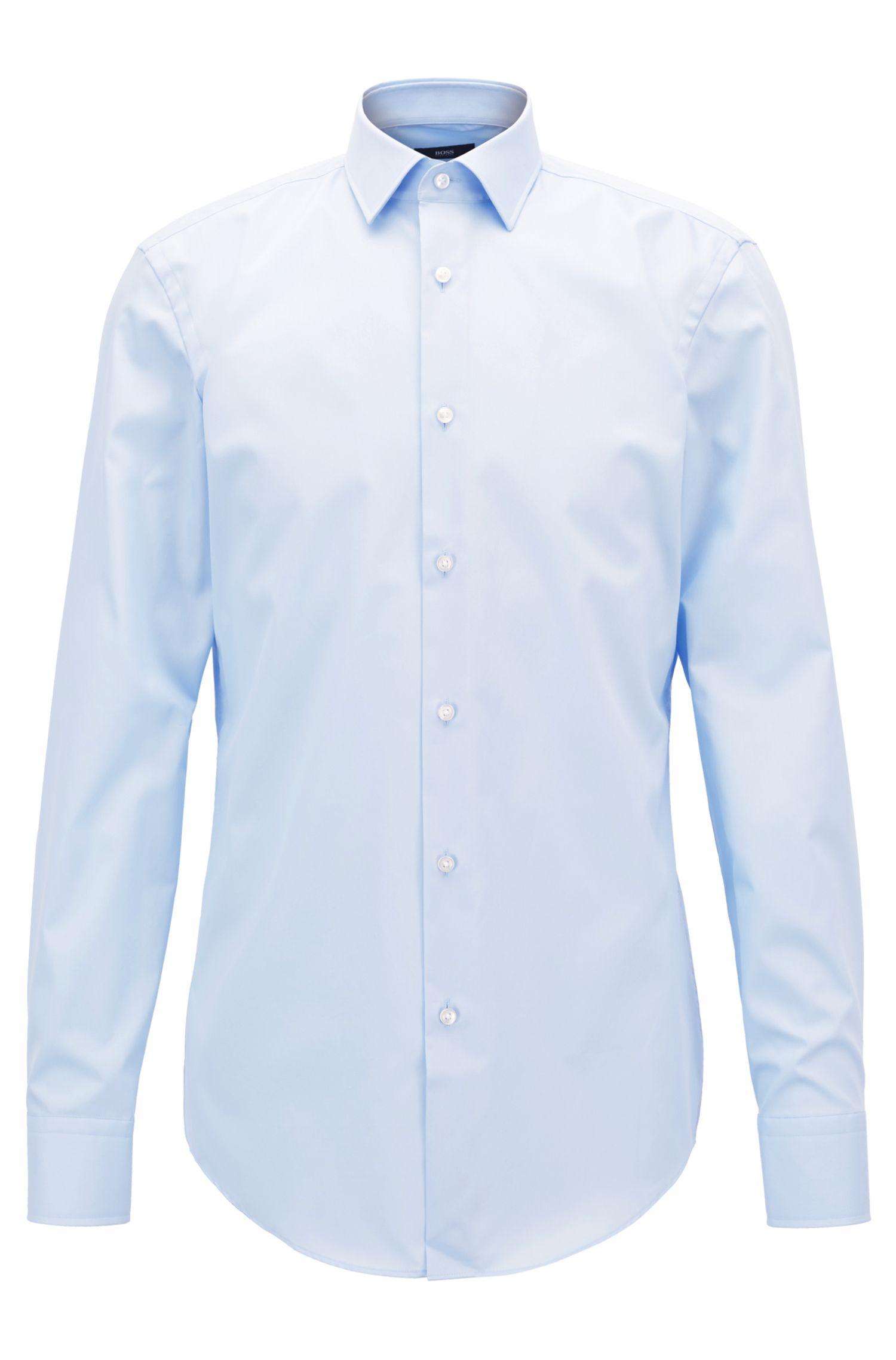 Camicia business slim fit in popeline di cotone by BOSS Uomo