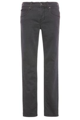 Jeans Slim Fit en coton mélangé extensible: «Orange63», Anthracite