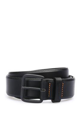 Cinturón de piel con grano: 'JoergSz35ltpl', Negro